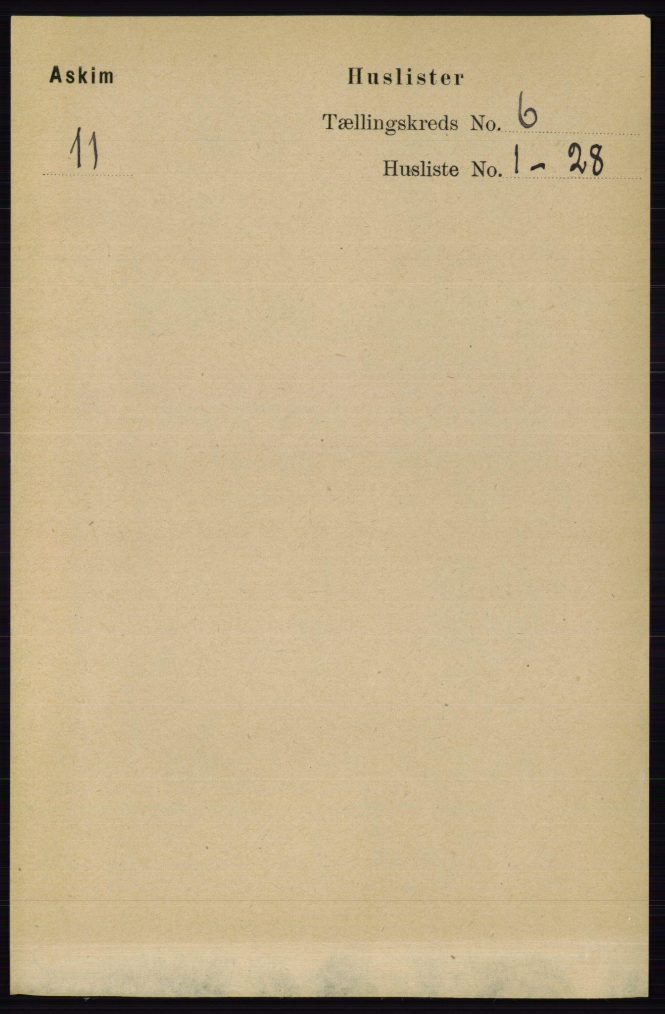 RA, Folketelling 1891 for 0124 Askim herred, 1891, s. 746