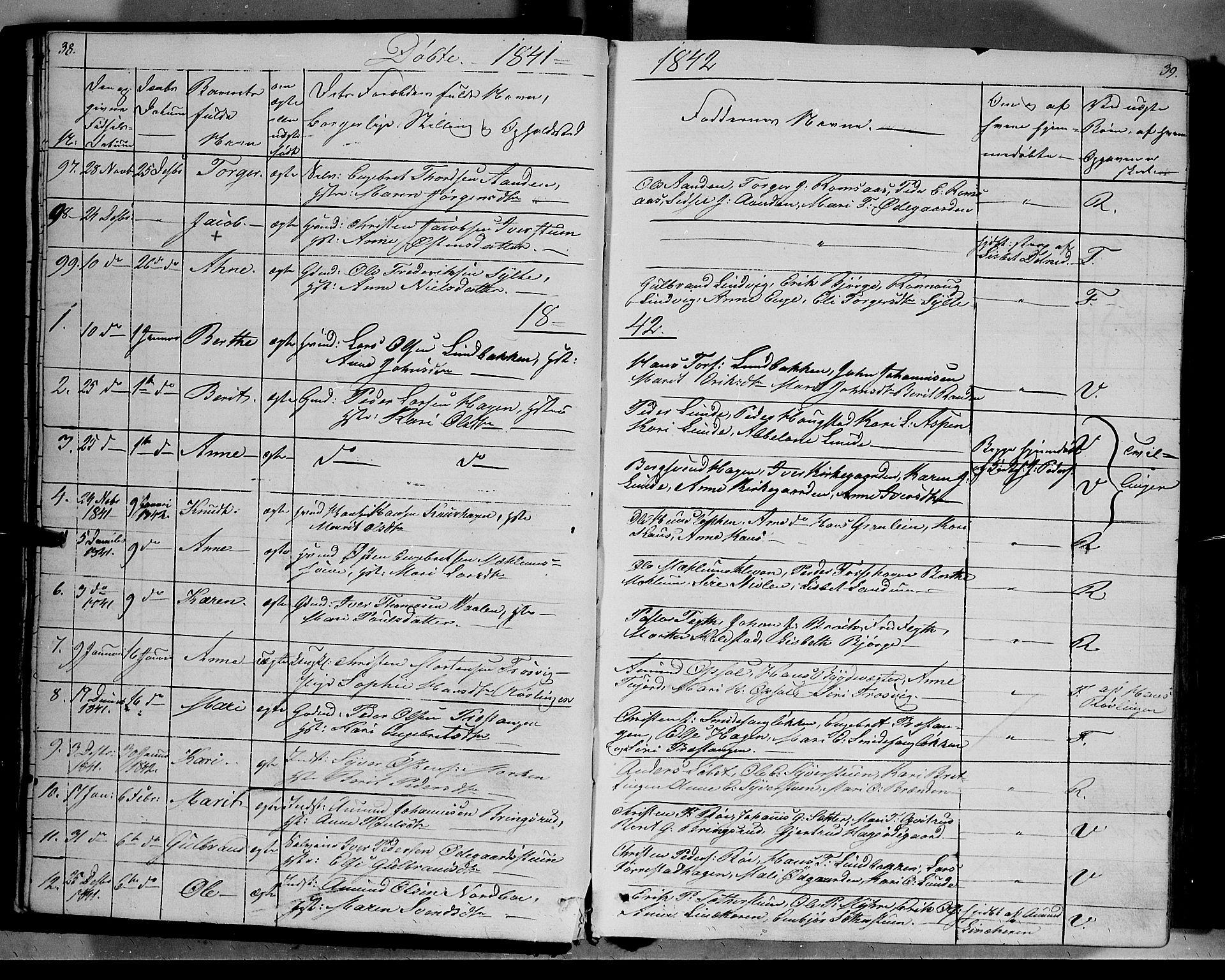 SAH, Ringebu prestekontor, Ministerialbok nr. 5, 1839-1848, s. 38-39