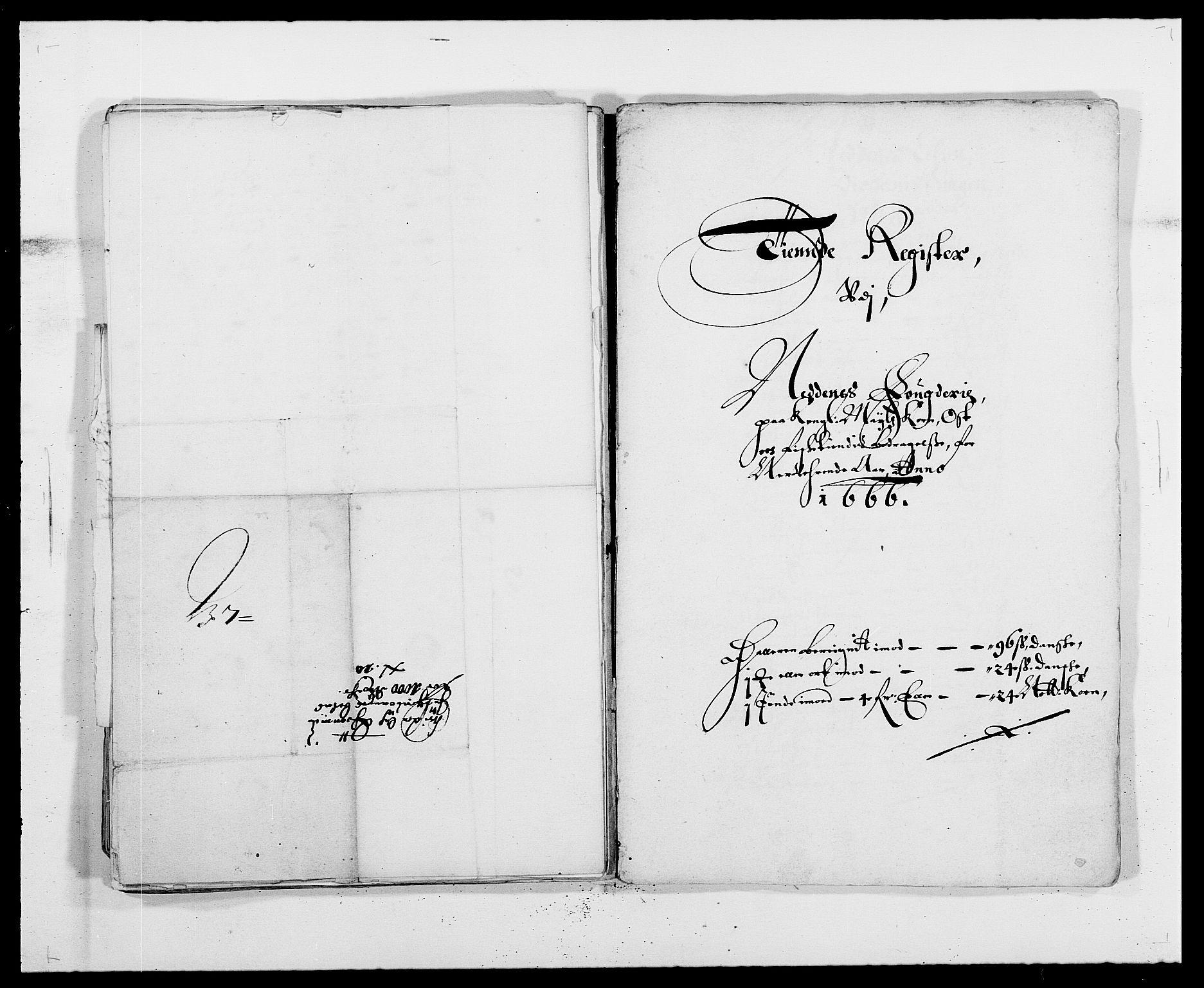 RA, Rentekammeret inntil 1814, Reviderte regnskaper, Fogderegnskap, R39/L2296: Fogderegnskap Nedenes, 1664-1666, s. 391