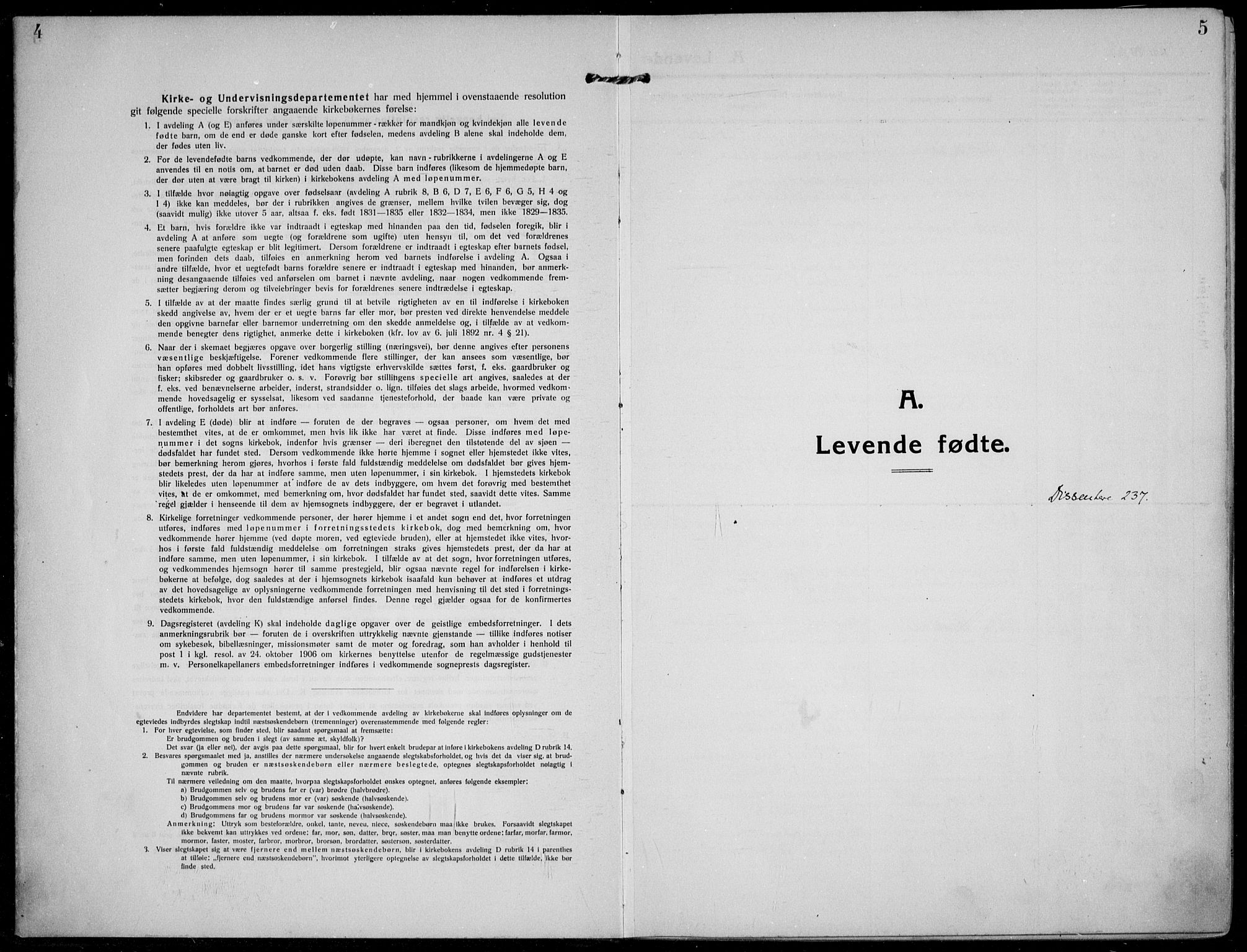 SAKO, Solum kirkebøker, F/Fb/L0004: Ministerialbok nr. II 4, 1913-1924, s. 4-5