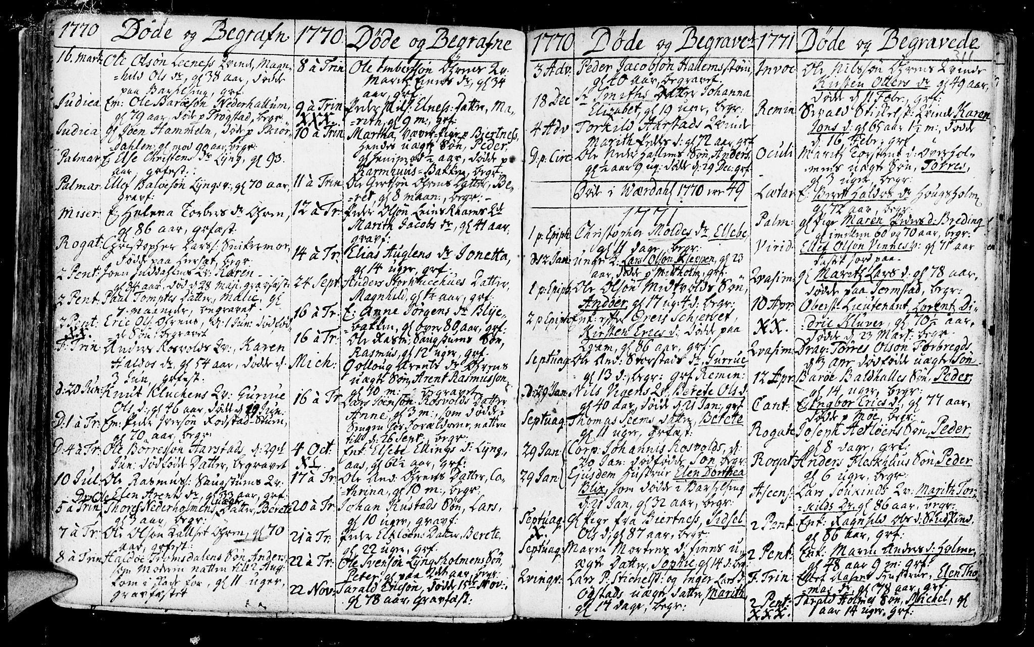 SAT, Ministerialprotokoller, klokkerbøker og fødselsregistre - Nord-Trøndelag, 723/L0231: Ministerialbok nr. 723A02, 1748-1780, s. 311