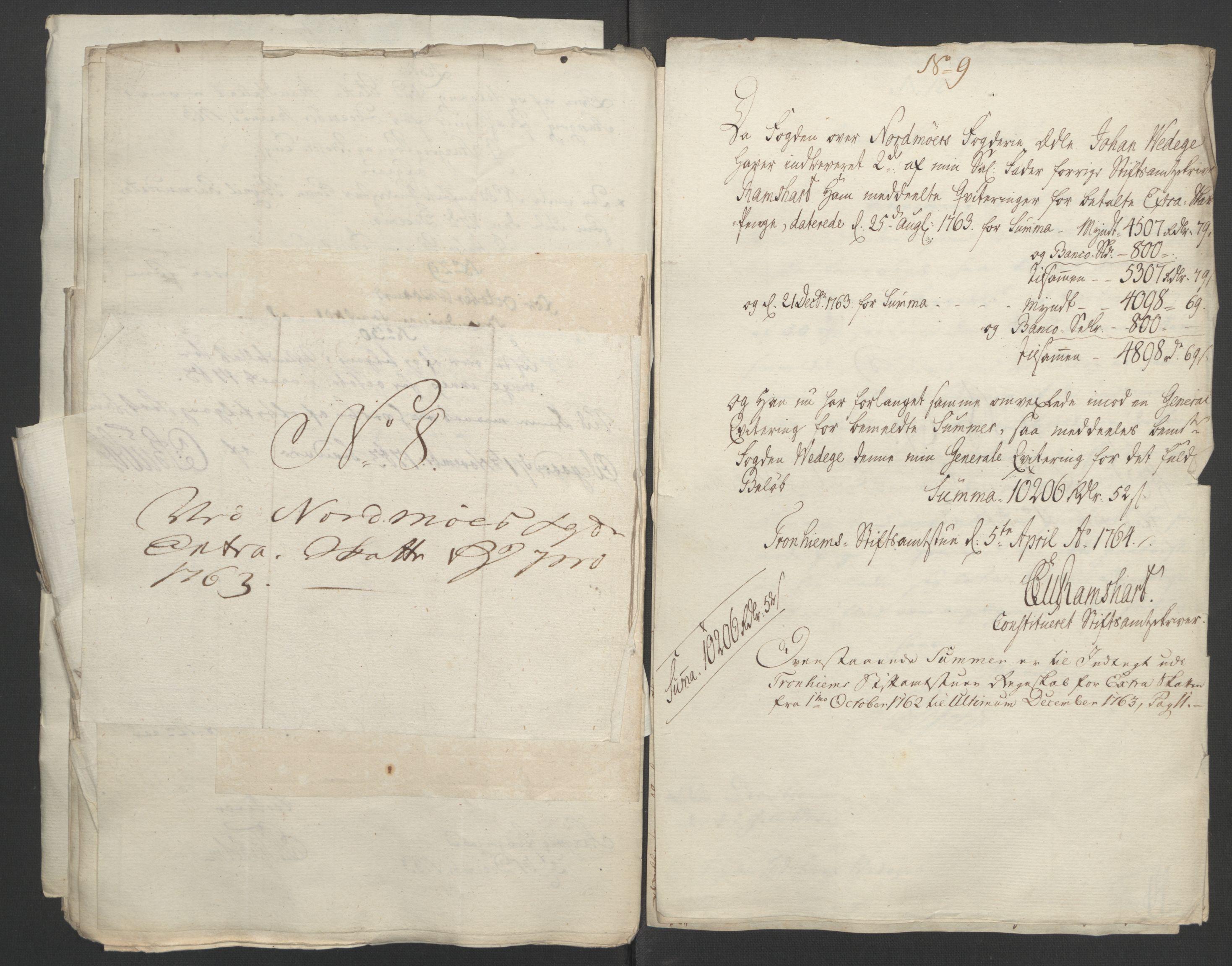 RA, Rentekammeret inntil 1814, Reviderte regnskaper, Fogderegnskap, R56/L3841: Ekstraskatten Nordmøre, 1762-1763, s. 345