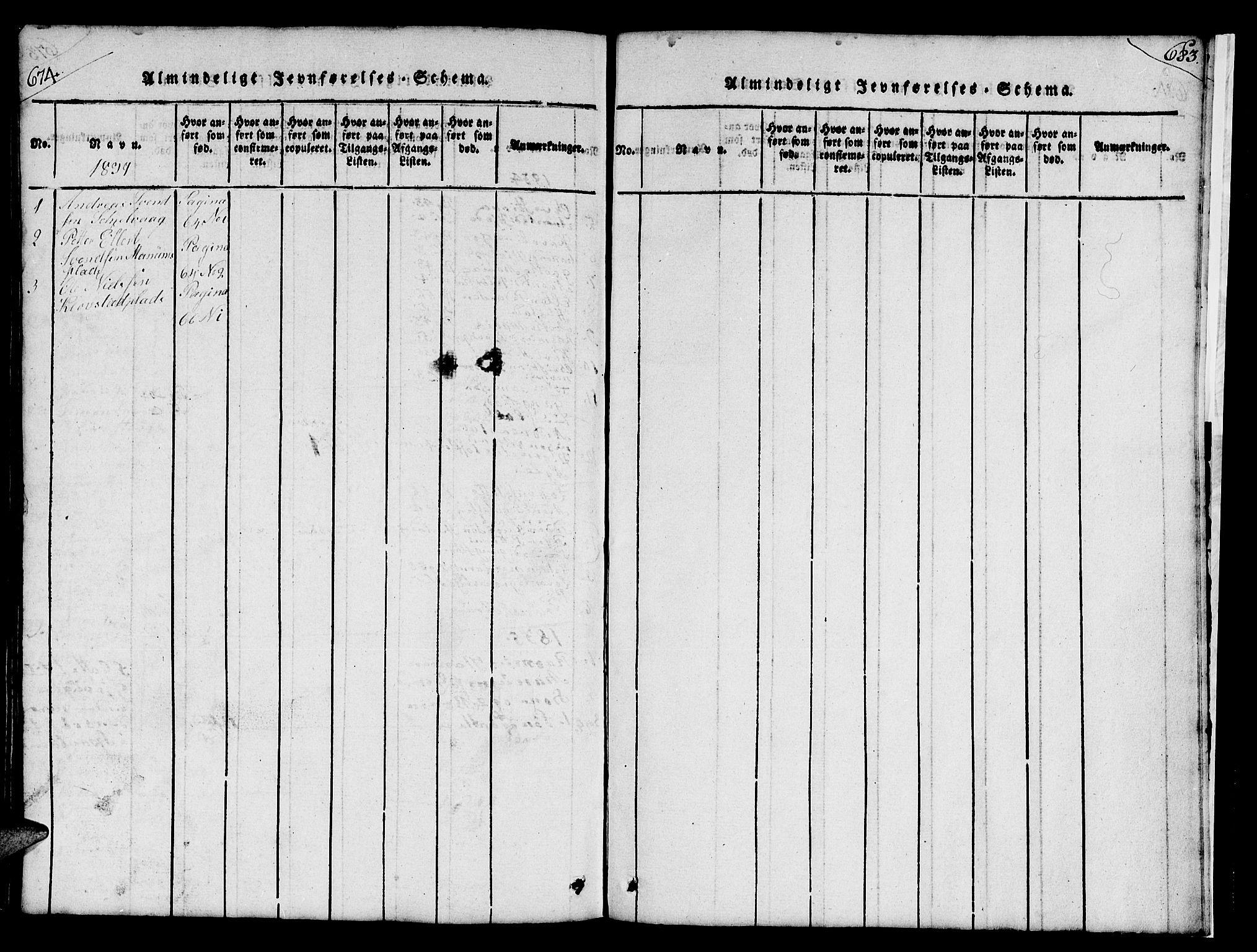 SAT, Ministerialprotokoller, klokkerbøker og fødselsregistre - Nord-Trøndelag, 732/L0317: Klokkerbok nr. 732C01, 1816-1881, s. 674-683