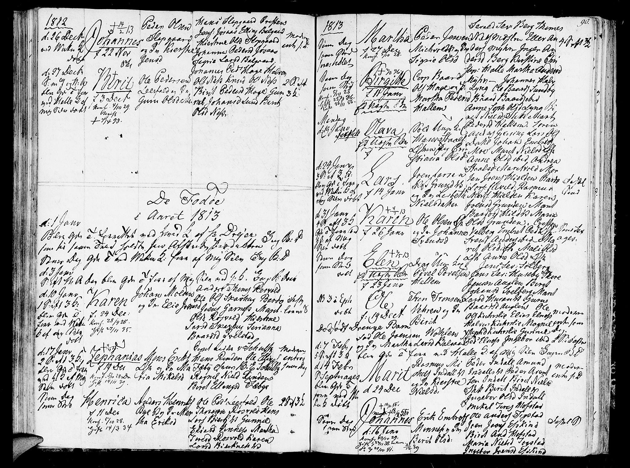 SAT, Ministerialprotokoller, klokkerbøker og fødselsregistre - Nord-Trøndelag, 723/L0233: Ministerialbok nr. 723A04, 1805-1816, s. 90