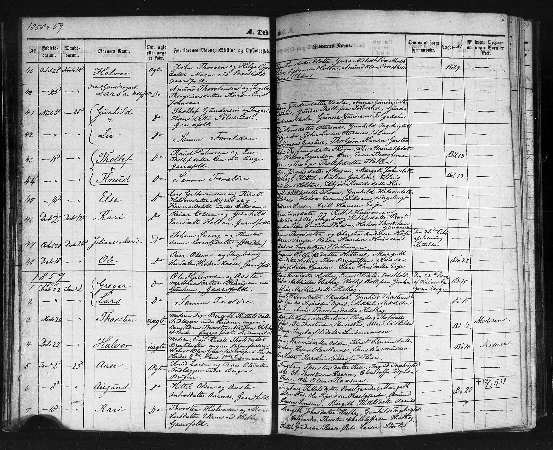SAKO, Sauherad kirkebøker, F/Fb/L0001: Ministerialbok nr. II 1, 1851-1877, s. 27