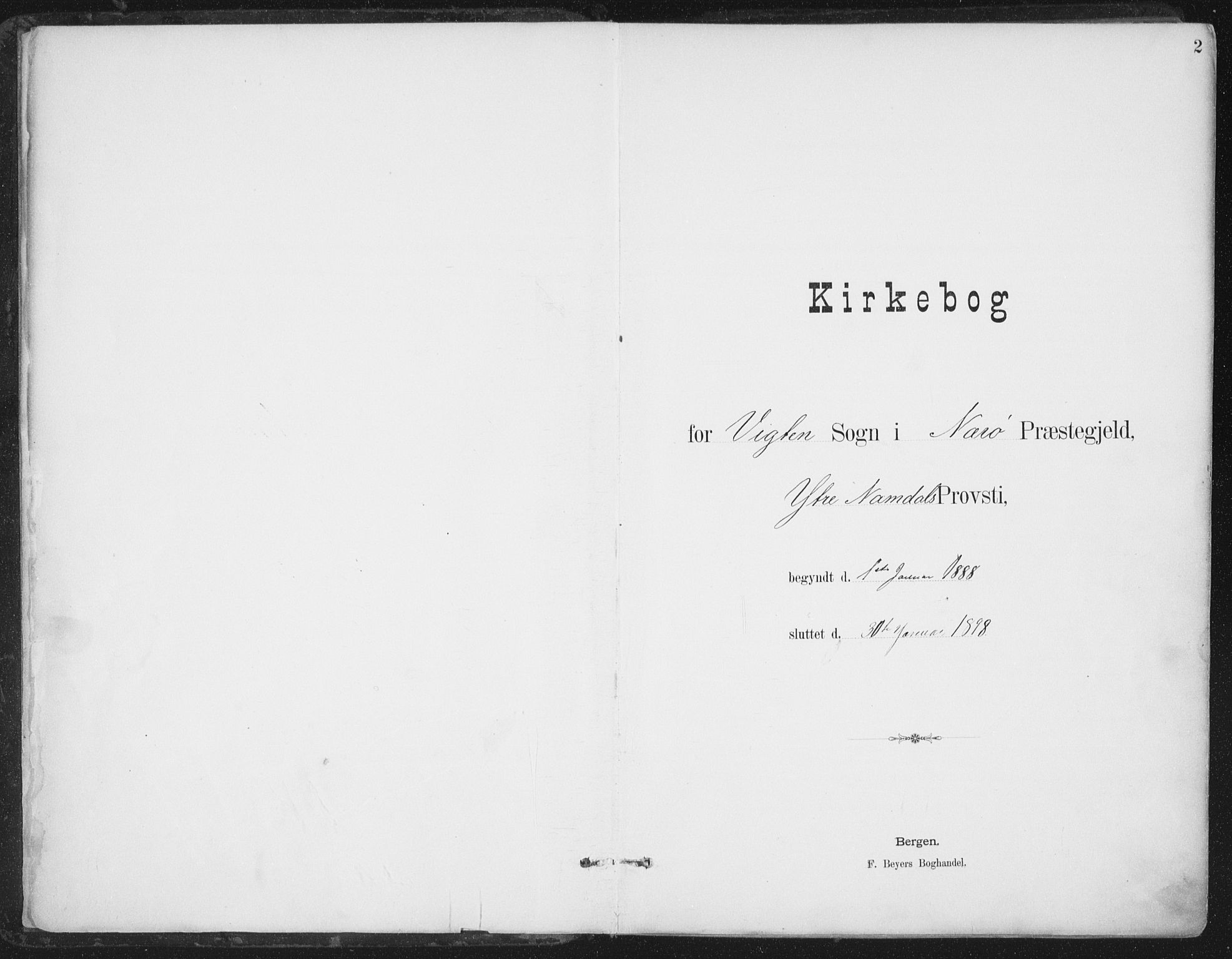 SAT, Ministerialprotokoller, klokkerbøker og fødselsregistre - Nord-Trøndelag, 786/L0687: Ministerialbok nr. 786A03, 1888-1898, s. 2