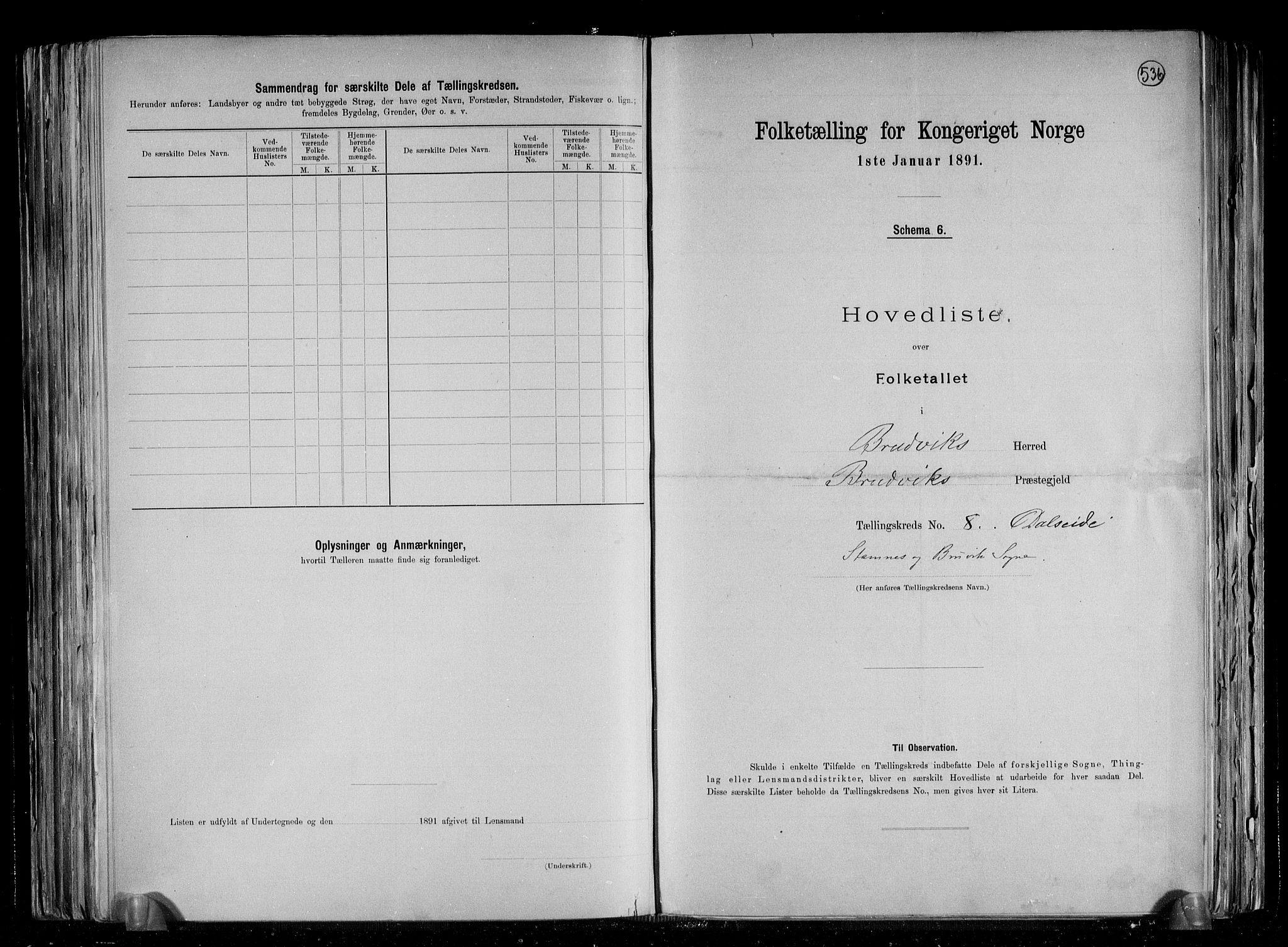 RA, Folketelling 1891 for 1251 Bruvik herred, 1891, s. 21