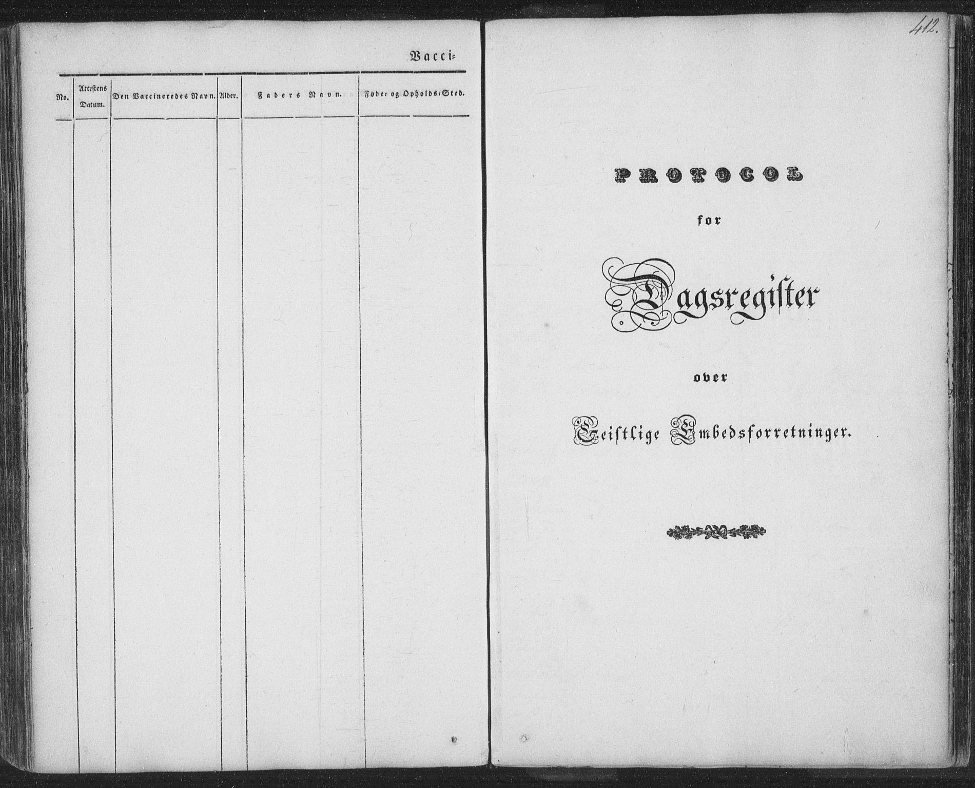 SAT, Ministerialprotokoller, klokkerbøker og fødselsregistre - Nordland, 885/L1202: Ministerialbok nr. 885A03, 1838-1859, s. 412