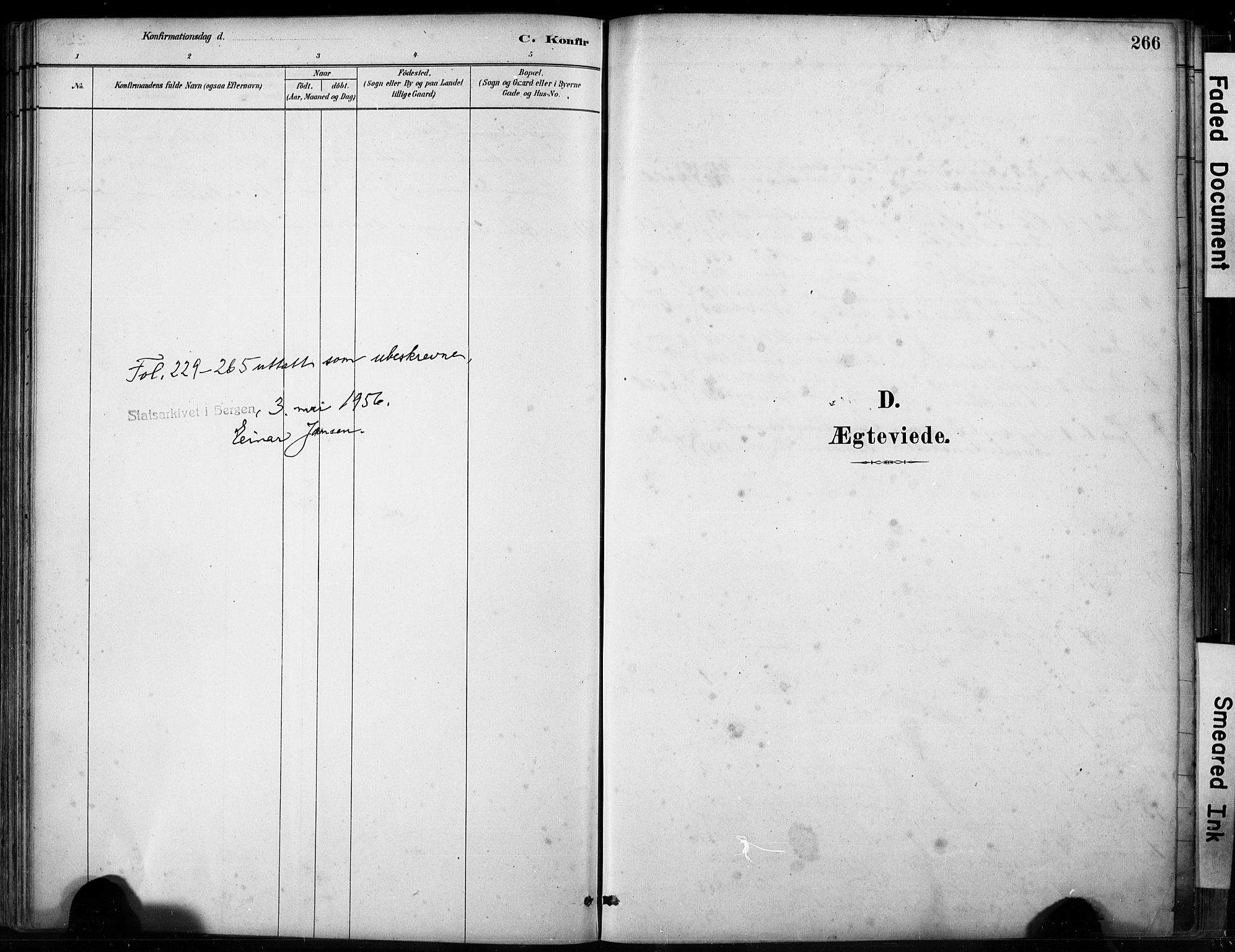 SAB, Fjell sokneprestembete, H/Hab: Klokkerbok nr. A 4, 1880-1899, s. 266