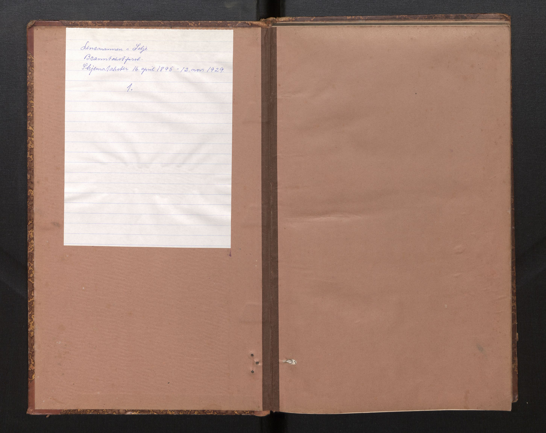 SAB, Lensmannen i Selje, 0012/L0003: Branntakstprotokoll, skjematakst, 1895-1929