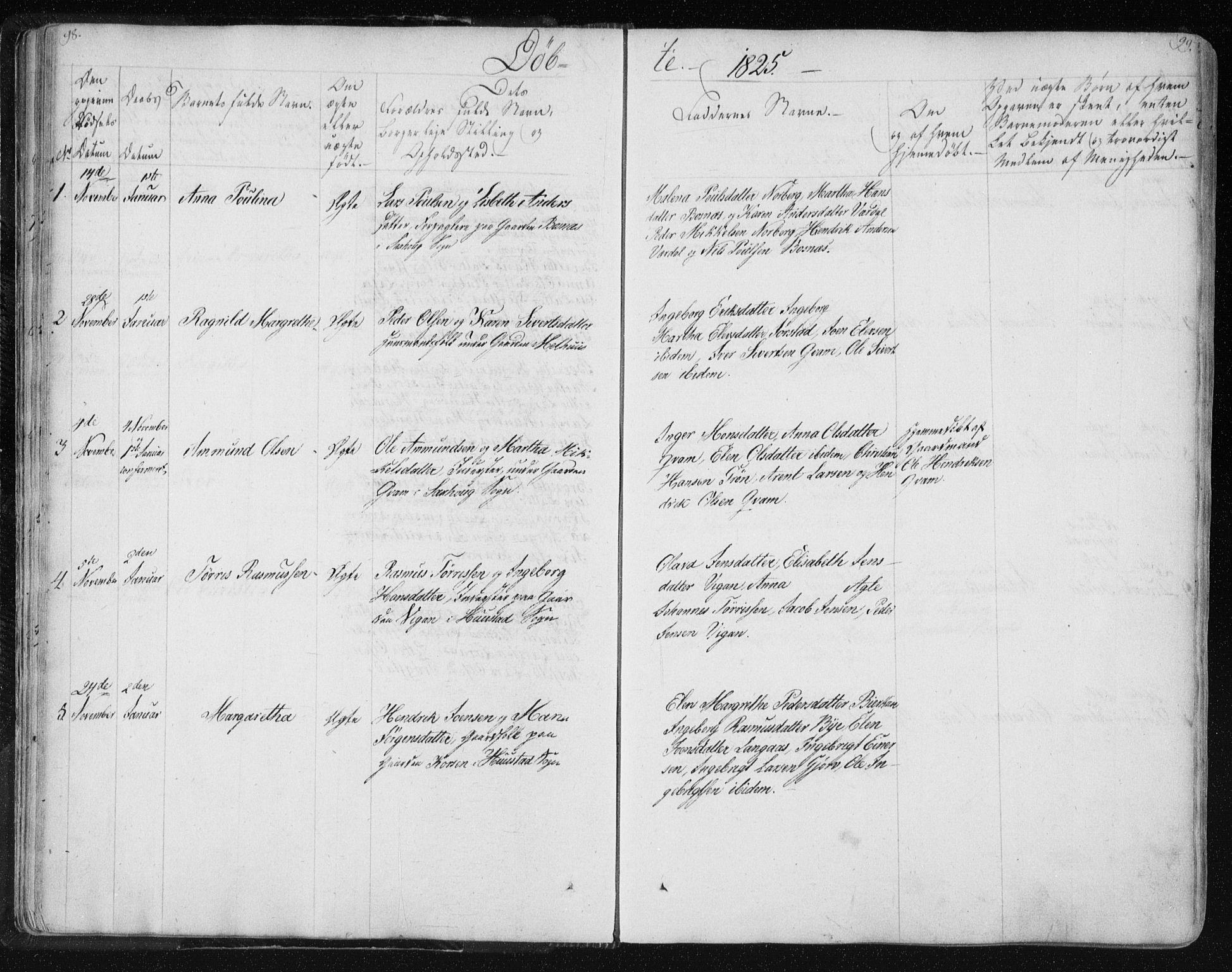 SAT, Ministerialprotokoller, klokkerbøker og fødselsregistre - Nord-Trøndelag, 730/L0276: Ministerialbok nr. 730A05, 1822-1830, s. 98-99