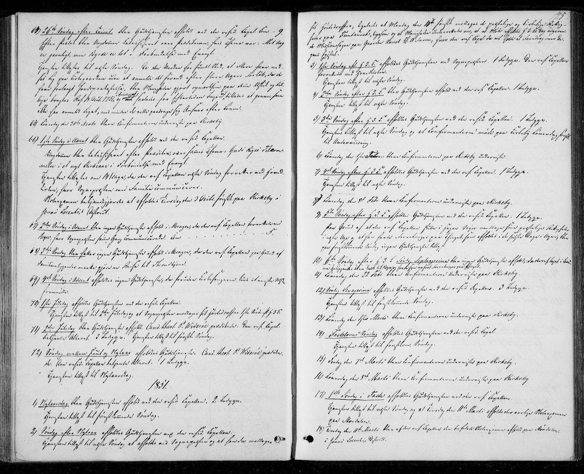 SAT, Ministerialprotokoller, klokkerbøker og fødselsregistre - Nord-Trøndelag, 706/L0040: Ministerialbok nr. 706A01, 1850-1861, s. 125