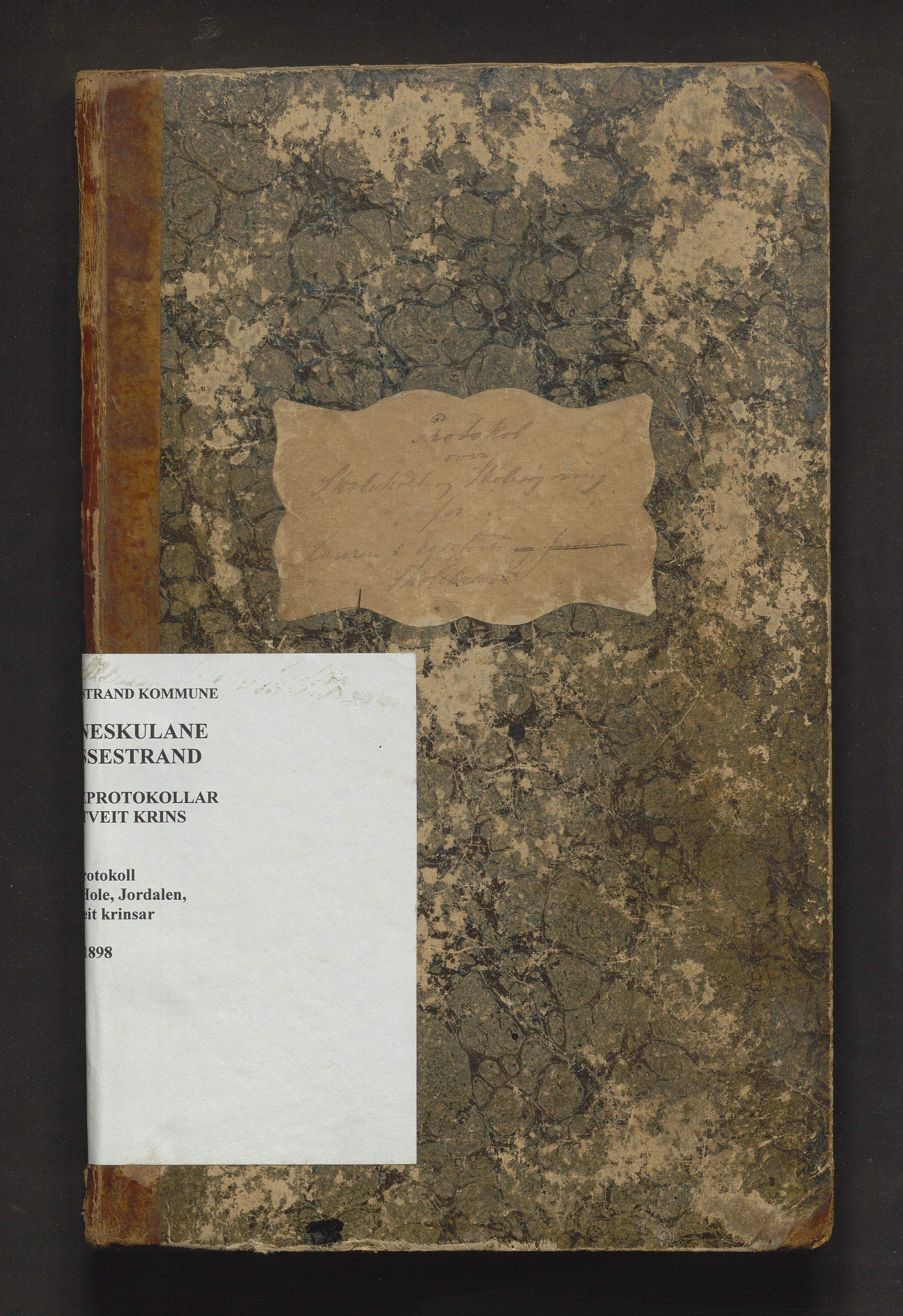 IKAH, Vossestrand kommune. Barneskulane , F/Fe/L0002: Skuleprotokoll for Vinje, Hole, Jordalen og Egdetveit krinsar, 1876-1898