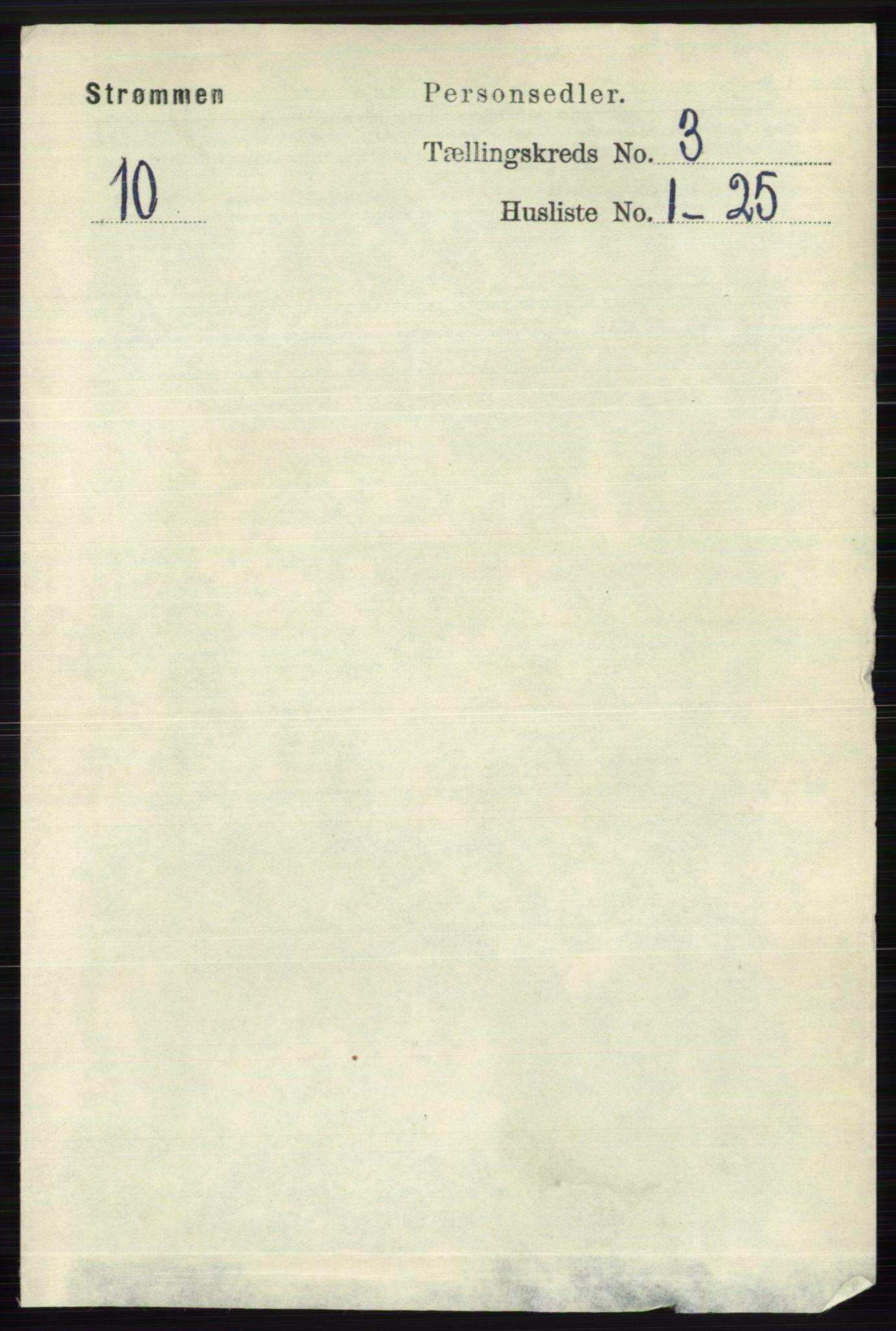 RA, Folketelling 1891 for 0711 Strømm herred, 1891, s. 1072
