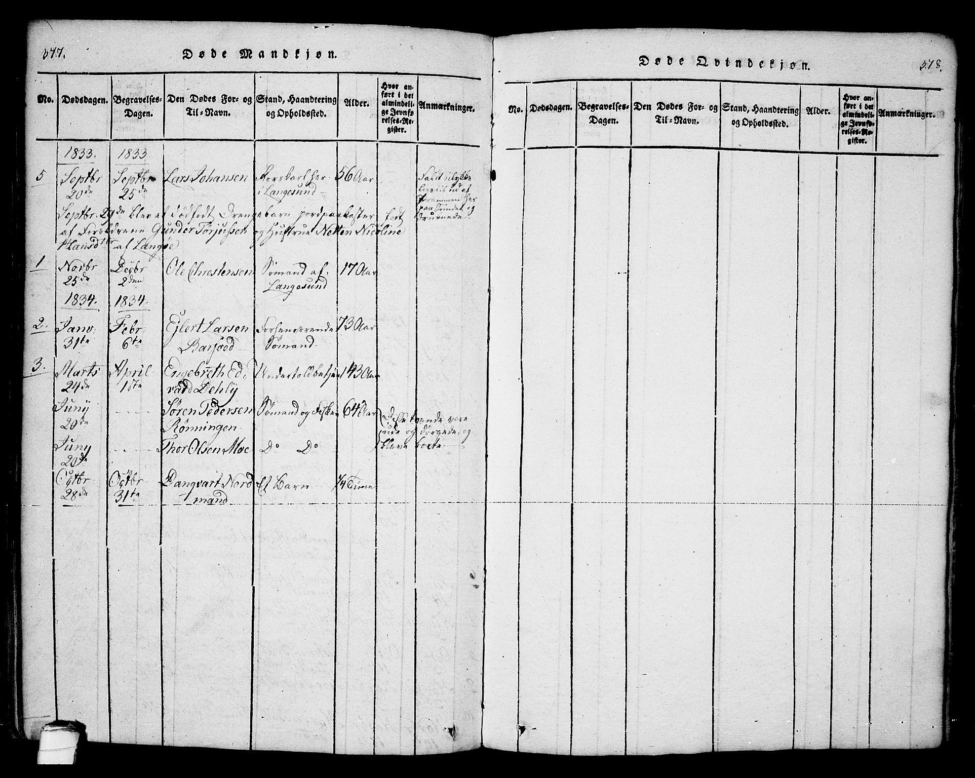 SAKO, Bamble kirkebøker, F/Fa/L0003: Ministerialbok nr. I 3 /2, 1815-1834, s. 377-378