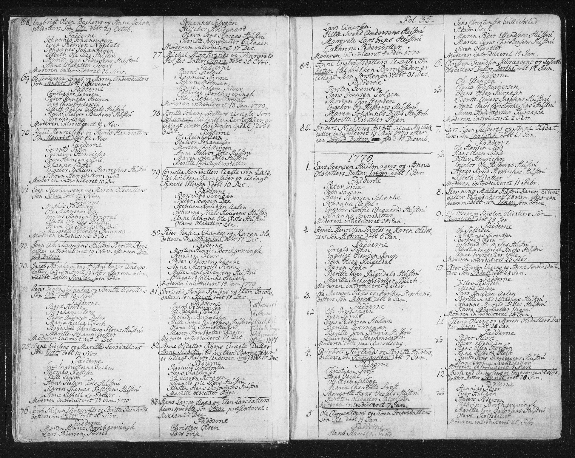 SAT, Ministerialprotokoller, klokkerbøker og fødselsregistre - Sør-Trøndelag, 681/L0926: Ministerialbok nr. 681A04, 1767-1797, s. 35
