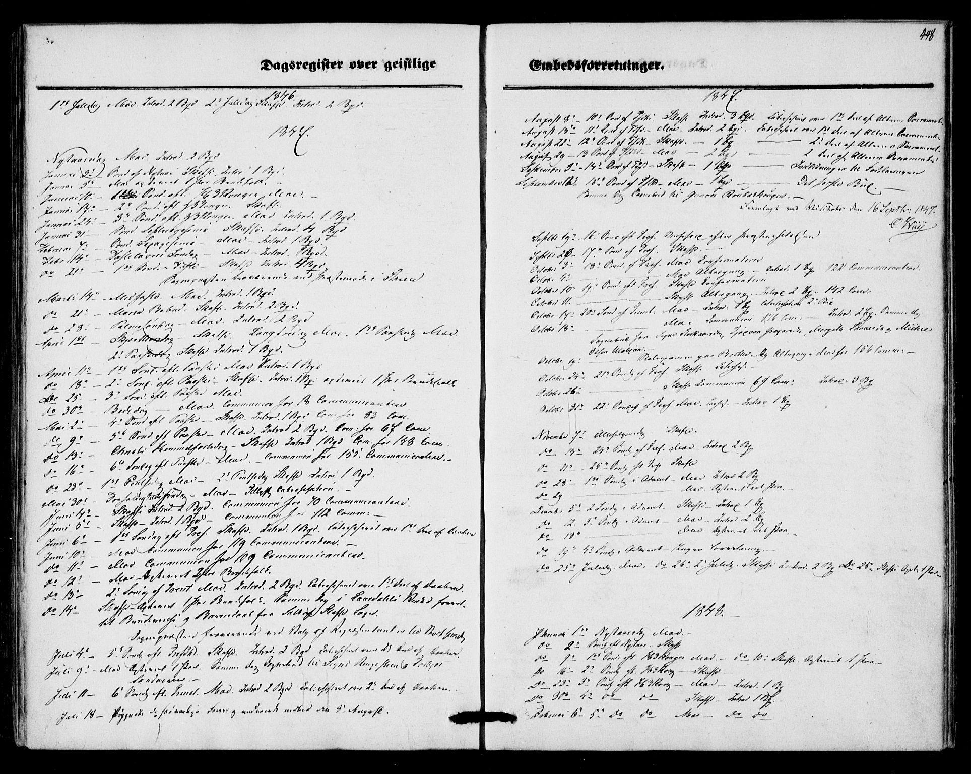 SAKO, Mo kirkebøker, F/Fa/L0005: Ministerialbok nr. I 5, 1844-1864, s. 448