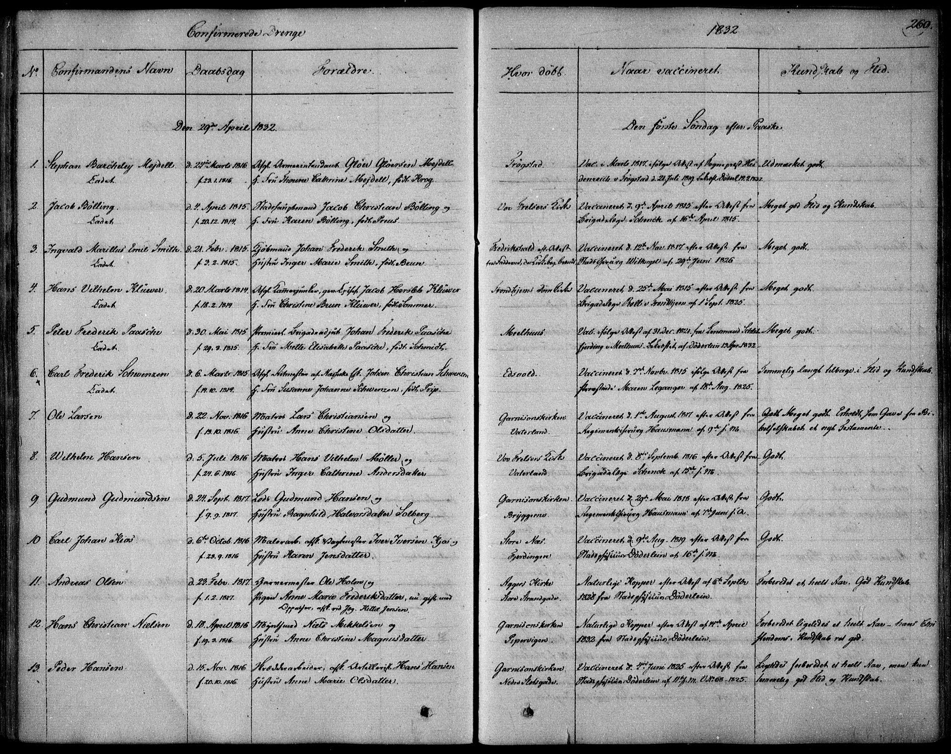 SAO, Garnisonsmenigheten Kirkebøker, F/Fa/L0006: Ministerialbok nr. 6, 1828-1841, s. 269
