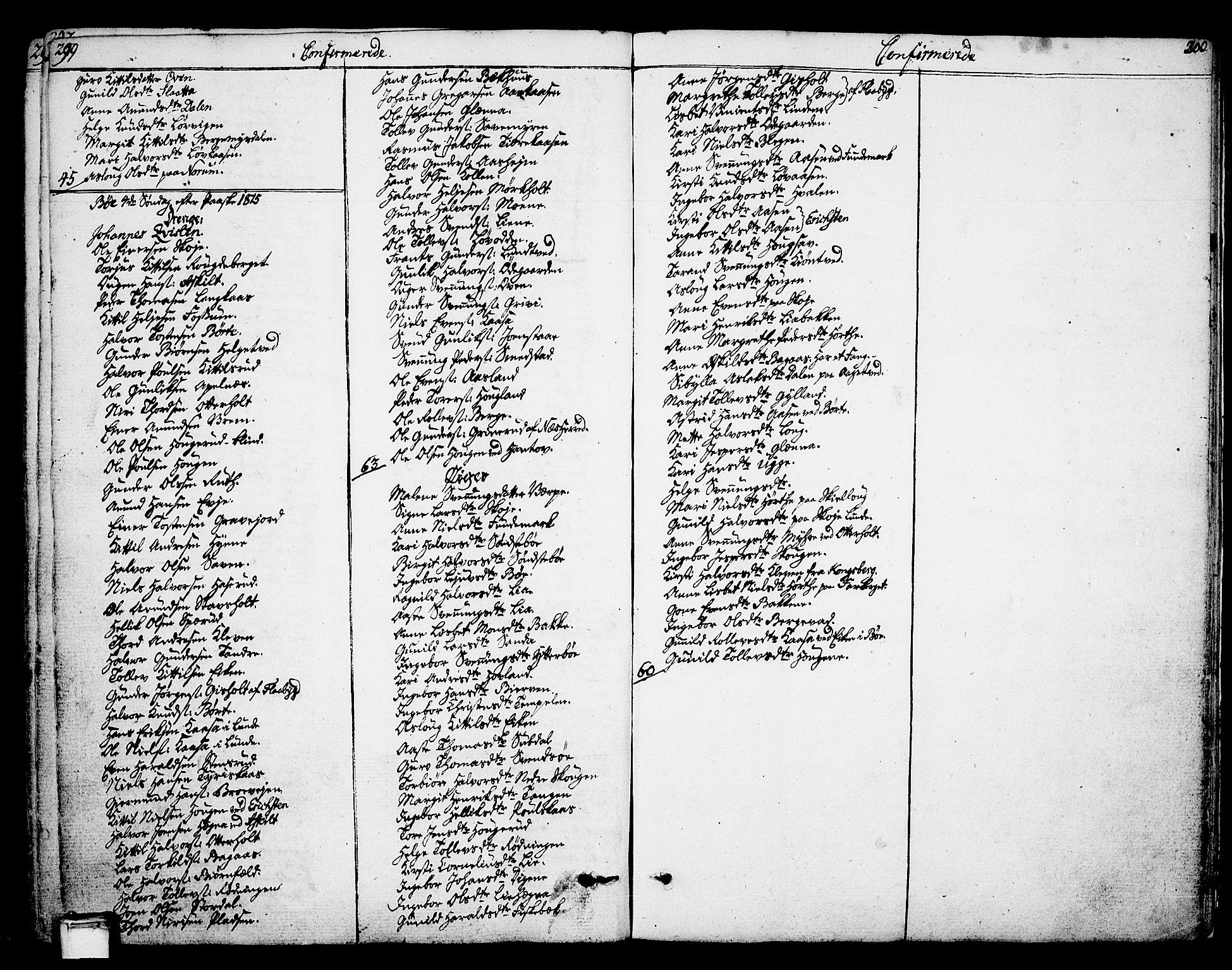 SAKO, Bø kirkebøker, F/Fa/L0005: Ministerialbok nr. 5, 1785-1815, s. 299-300