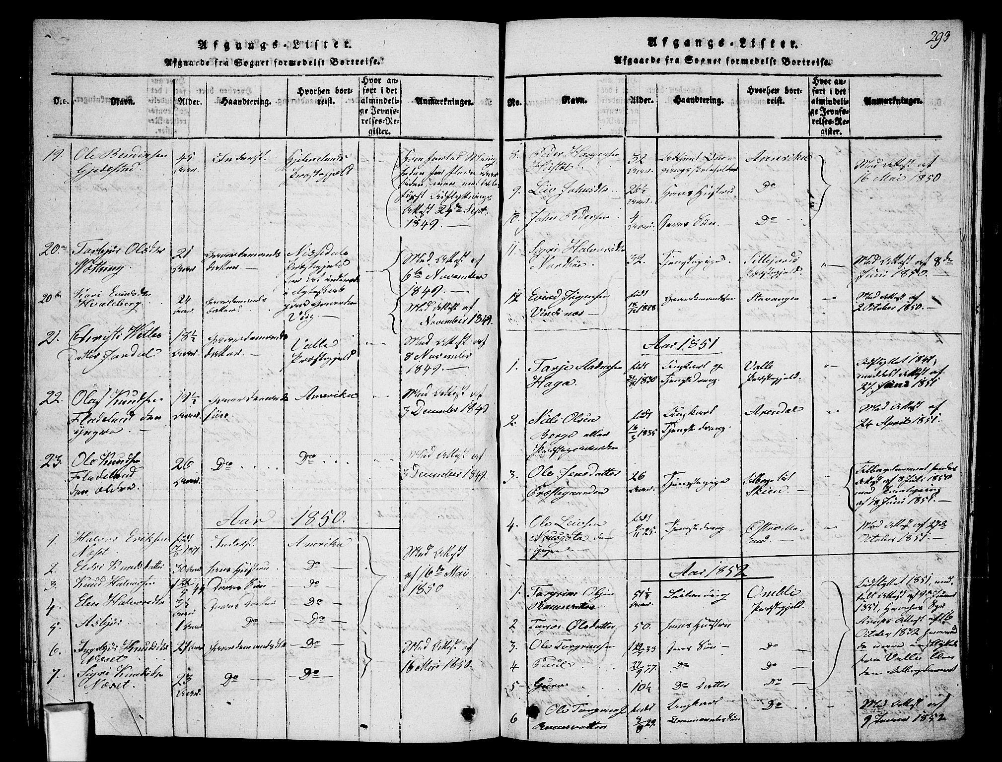 SAKO, Fyresdal kirkebøker, G/Ga/L0002: Klokkerbok nr. I 2, 1815-1857, s. 293