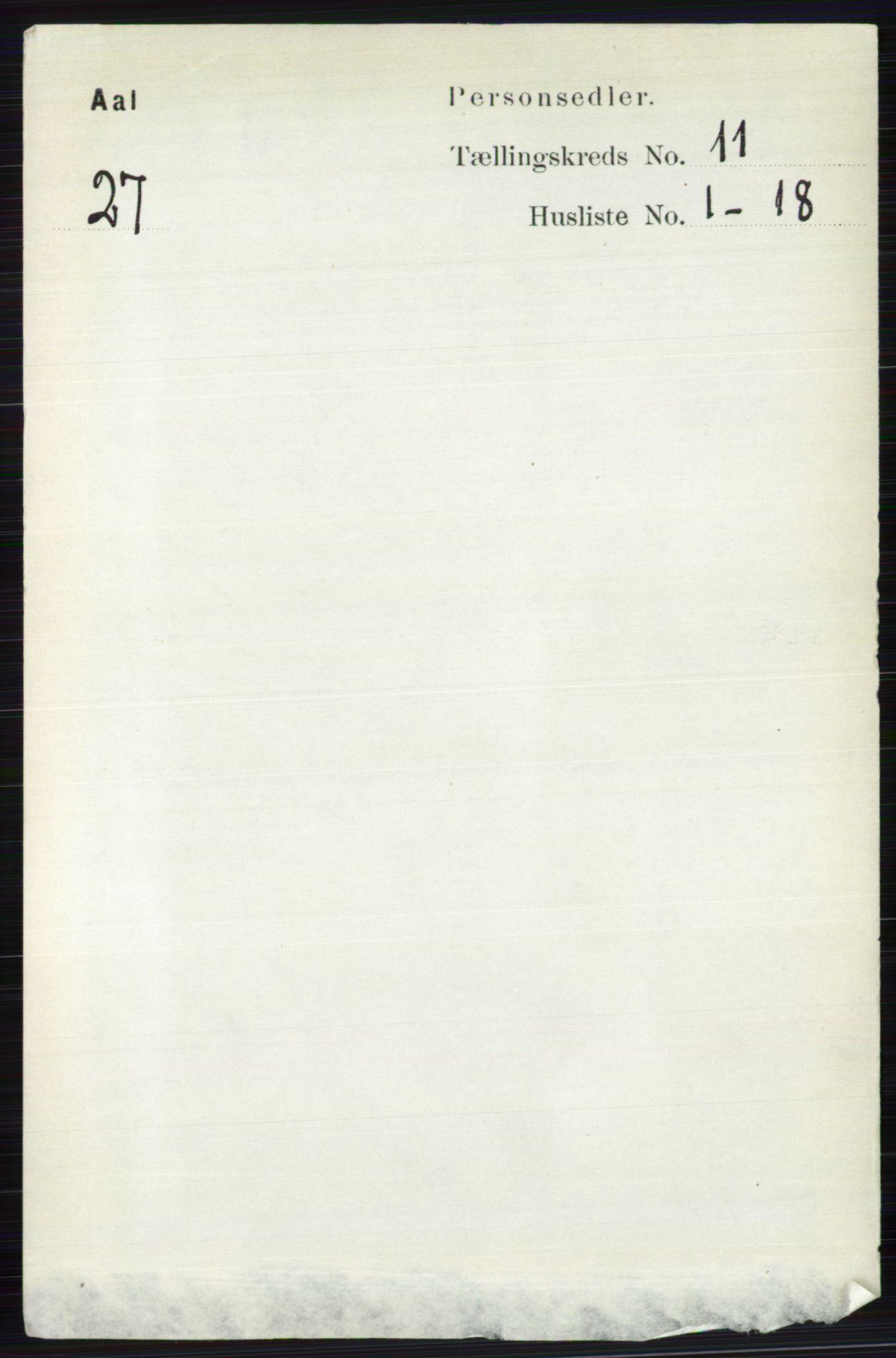 RA, Folketelling 1891 for 0619 Ål herred, 1891, s. 2869
