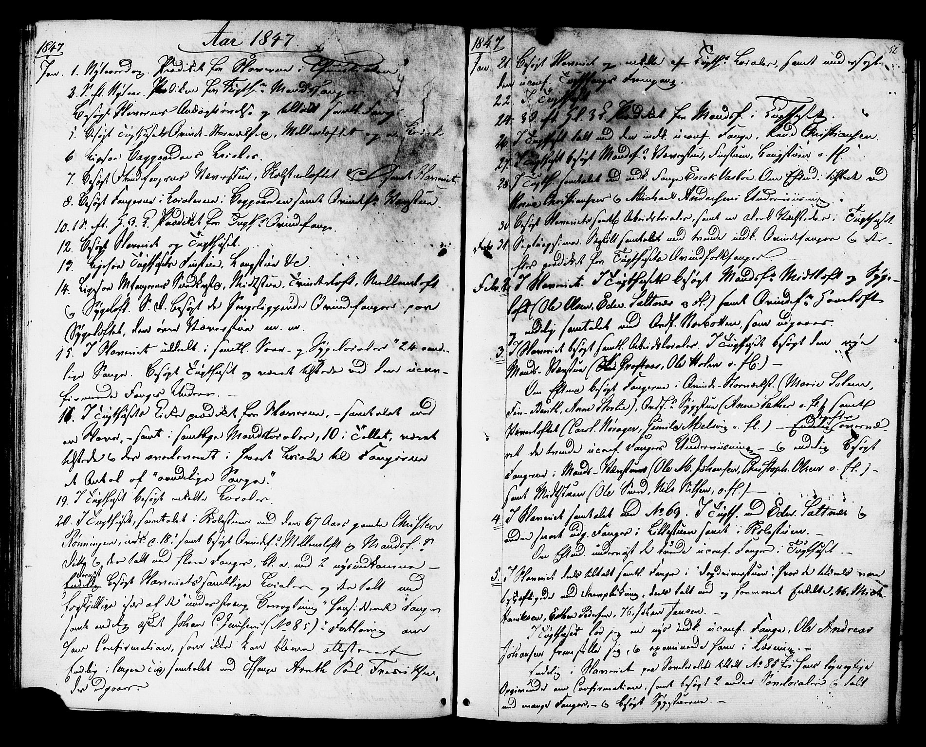 SAT, Ministerialprotokoller, klokkerbøker og fødselsregistre - Sør-Trøndelag, 624/L0480: Ministerialbok nr. 624A01, 1841-1864, s. 52