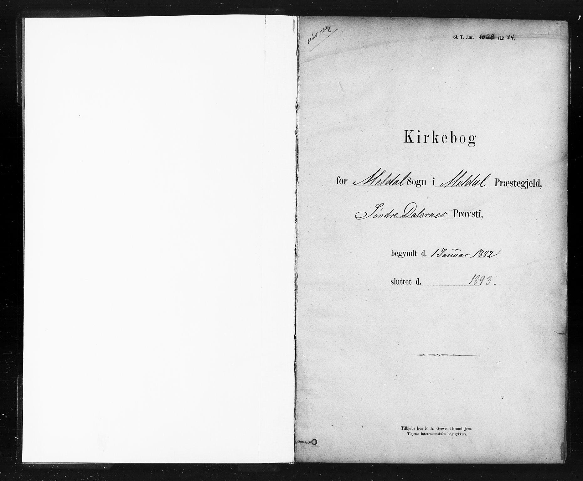 SAT, Ministerialprotokoller, klokkerbøker og fødselsregistre - Sør-Trøndelag, 672/L0857: Ministerialbok nr. 672A09, 1882-1893