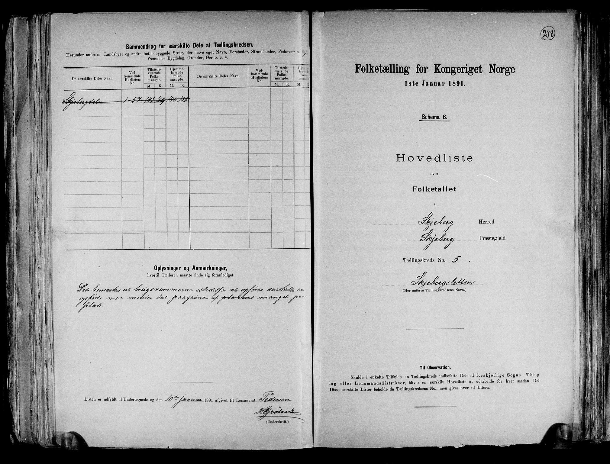 RA, Folketelling 1891 for 0115 Skjeberg herred, 1891, s. 14