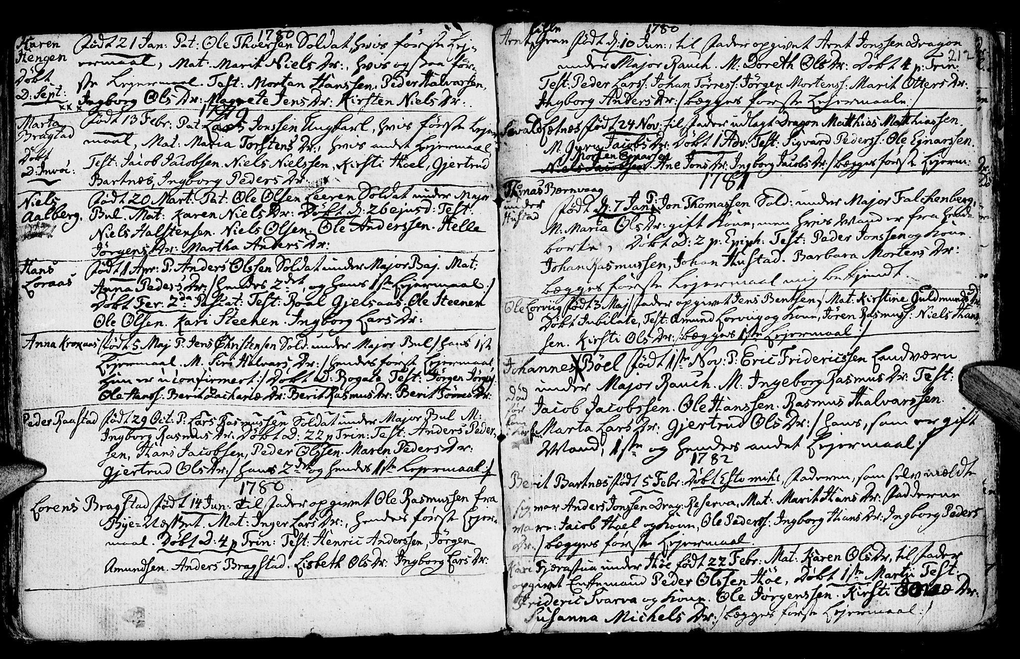 SAT, Ministerialprotokoller, klokkerbøker og fødselsregistre - Nord-Trøndelag, 730/L0273: Ministerialbok nr. 730A02, 1762-1802, s. 212