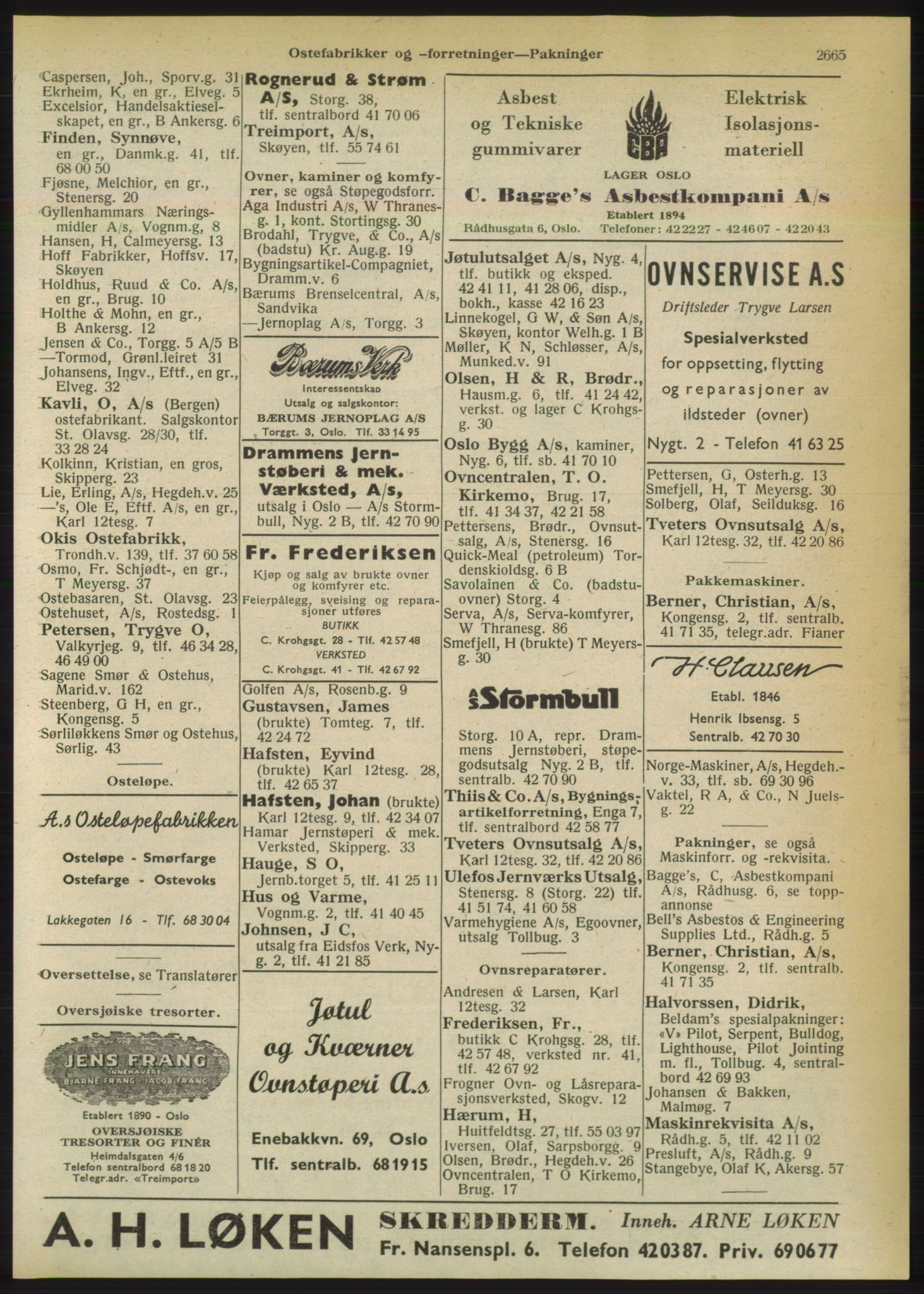 RA, Oslo adressebok (publikasjon)*, 1950, s. 2665