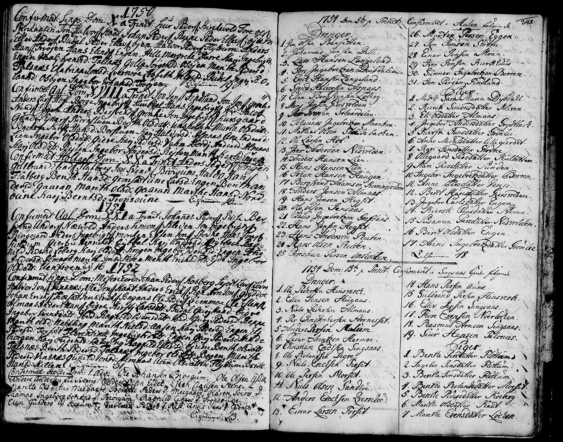 SAT, Ministerialprotokoller, klokkerbøker og fødselsregistre - Sør-Trøndelag, 685/L0952: Ministerialbok nr. 685A01, 1745-1804, s. 241