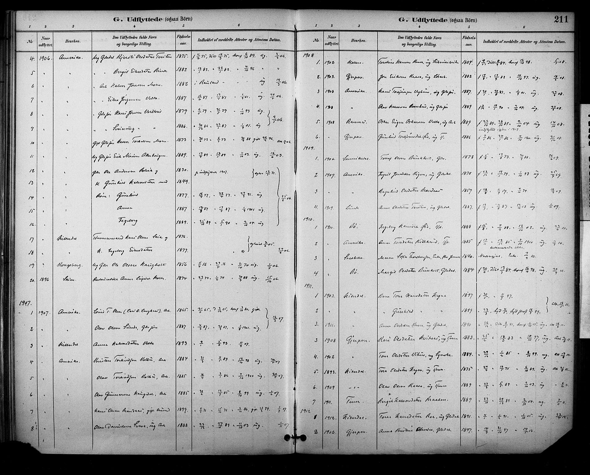 SAKO, Sauherad kirkebøker, F/Fa/L0009: Ministerialbok nr. I 9, 1887-1912, s. 211