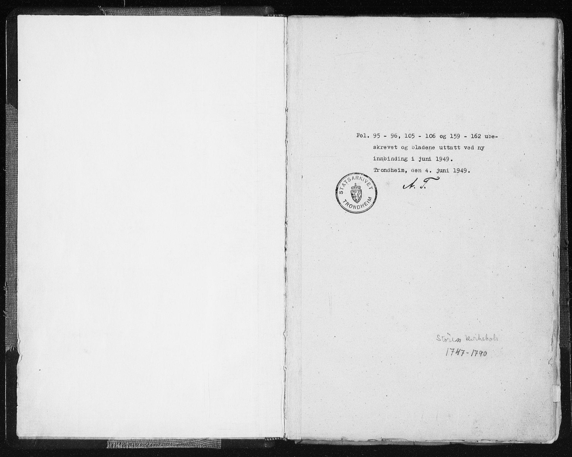 SAT, Ministerialprotokoller, klokkerbøker og fødselsregistre - Sør-Trøndelag, 687/L0991: Ministerialbok nr. 687A02, 1747-1790