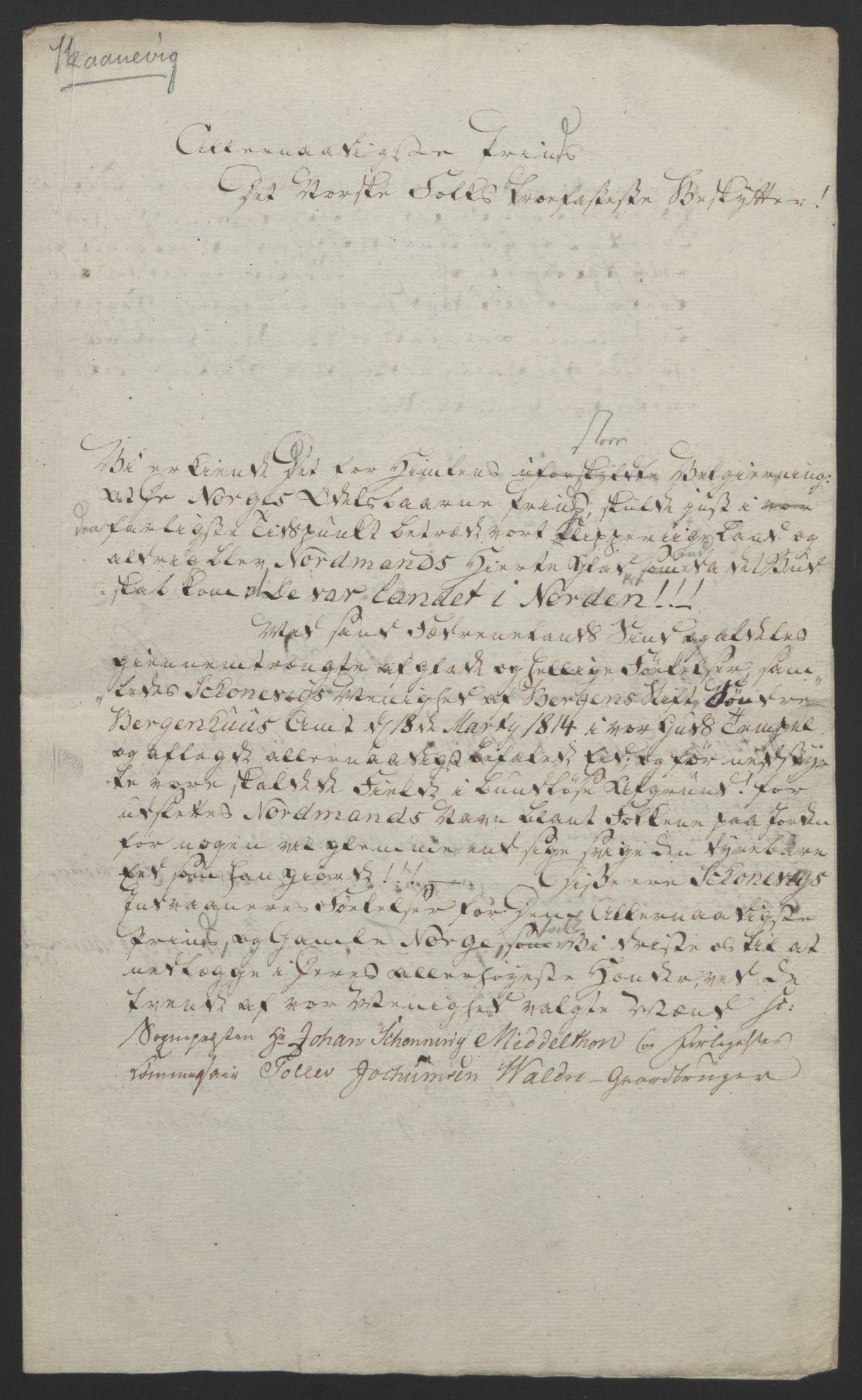 RA, Statsrådssekretariatet, D/Db/L0008: Fullmakter for Eidsvollsrepresentantene i 1814. , 1814, s. 294