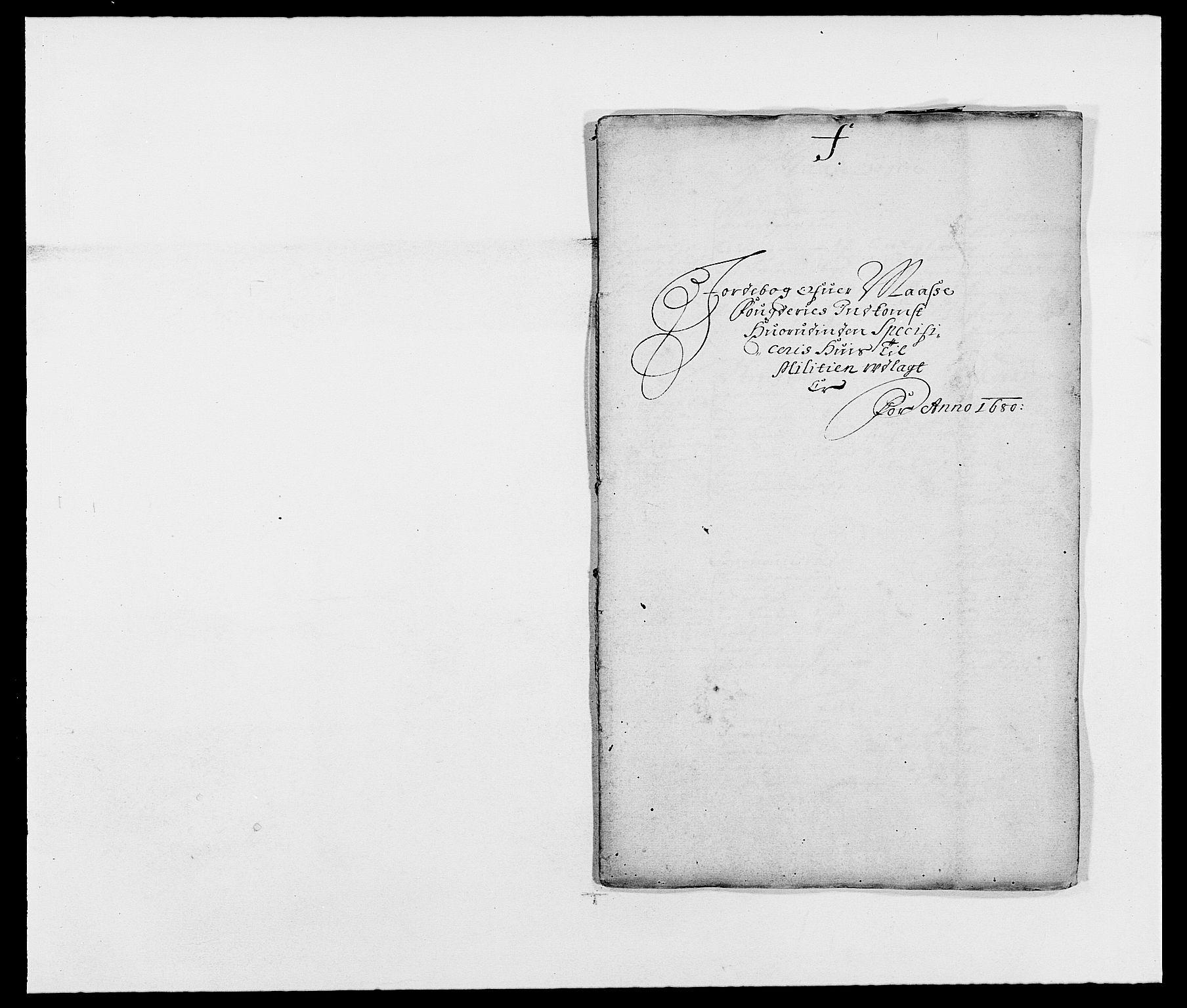 RA, Rentekammeret inntil 1814, Reviderte regnskaper, Fogderegnskap, R02/L0101: Fogderegnskap Moss og Verne kloster, 1680, s. 152