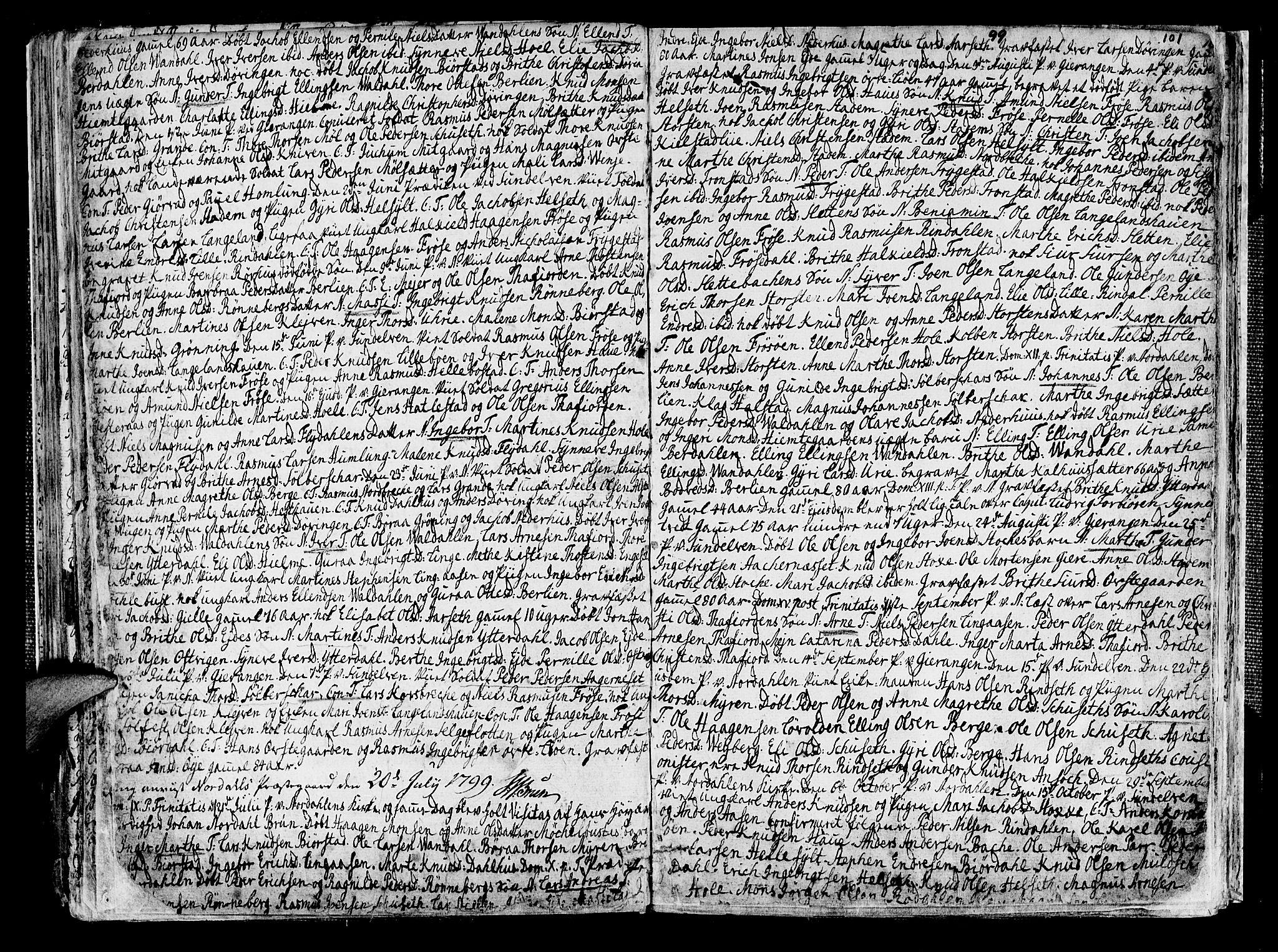 SAT, Ministerialprotokoller, klokkerbøker og fødselsregistre - Møre og Romsdal, 519/L0245: Ministerialbok nr. 519A04, 1774-1816, s. 101
