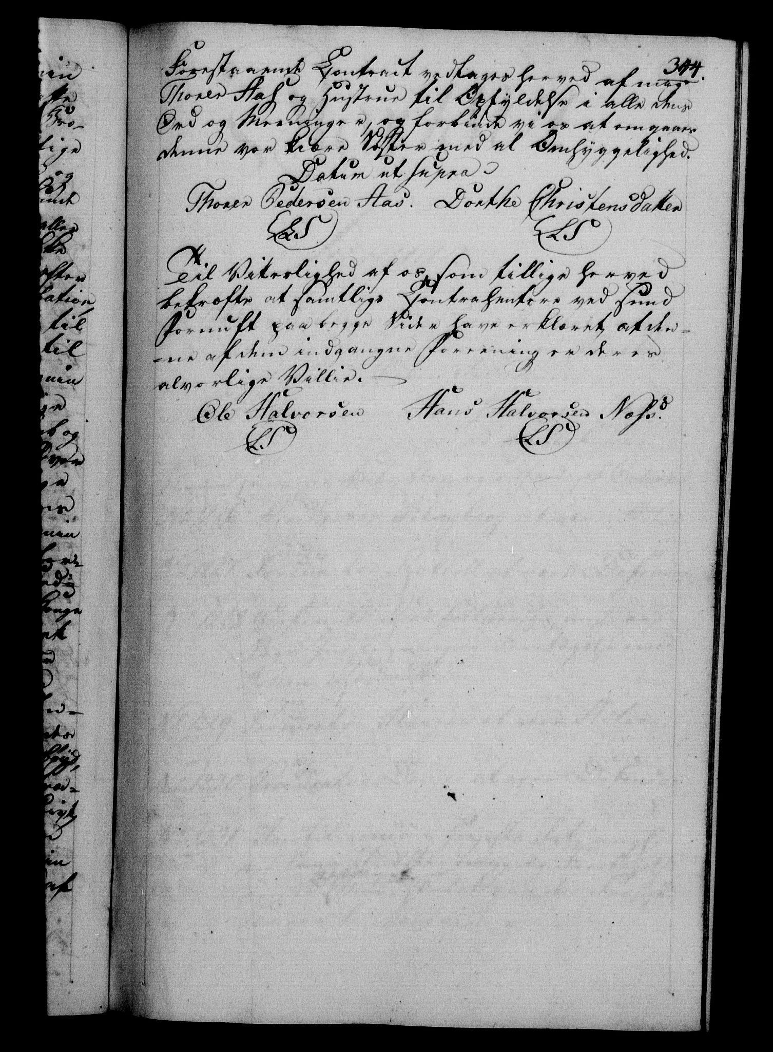 RA, Danske Kanselli 1800-1814, H/Hf/Hfb/Hfba/L0001: Registranter, 1800-1801, s. 344a