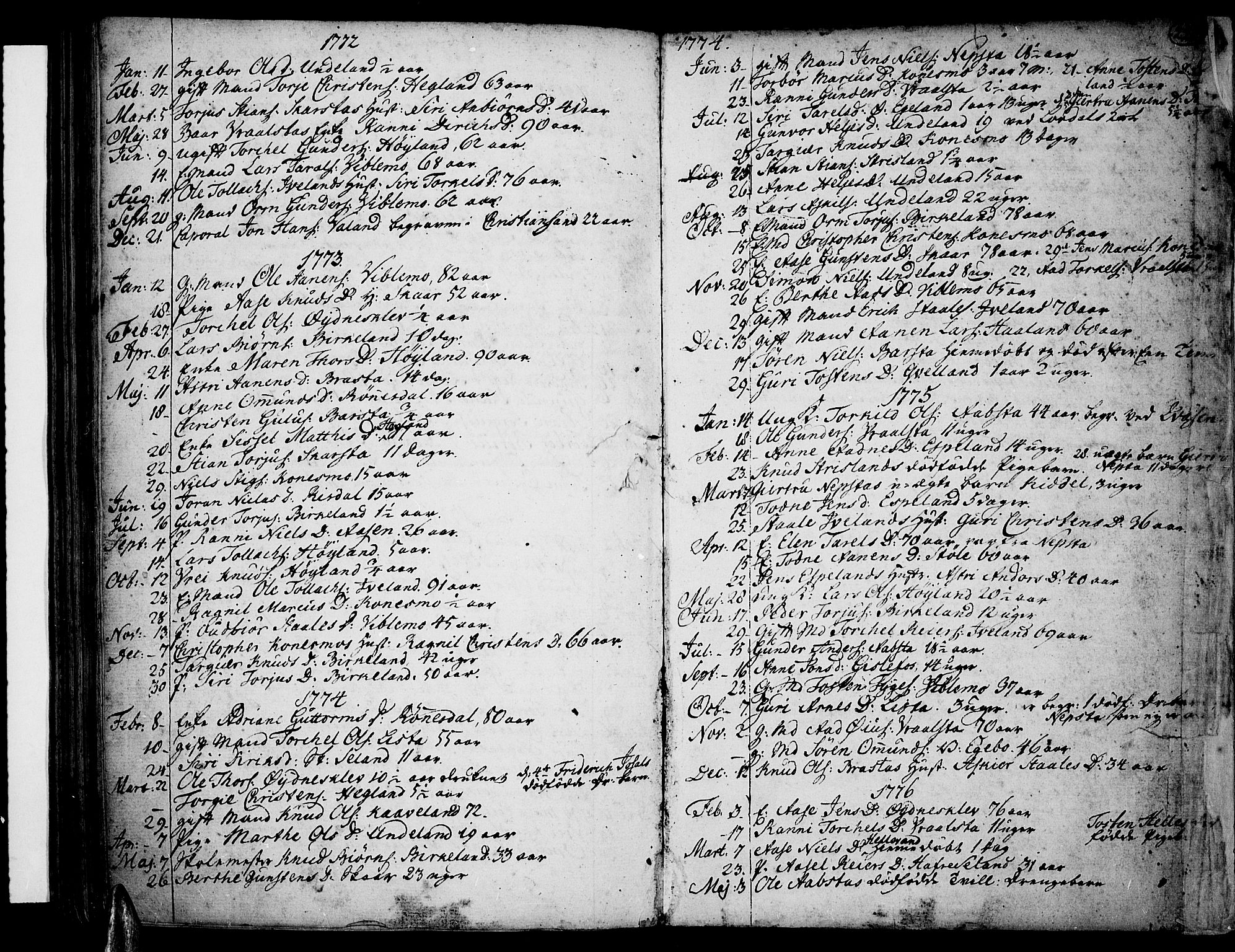 SAK, Sør-Audnedal sokneprestkontor, F/Fa/Fab/L0002: Ministerialbok nr. A 2 /4, 1768-1814, s. 228