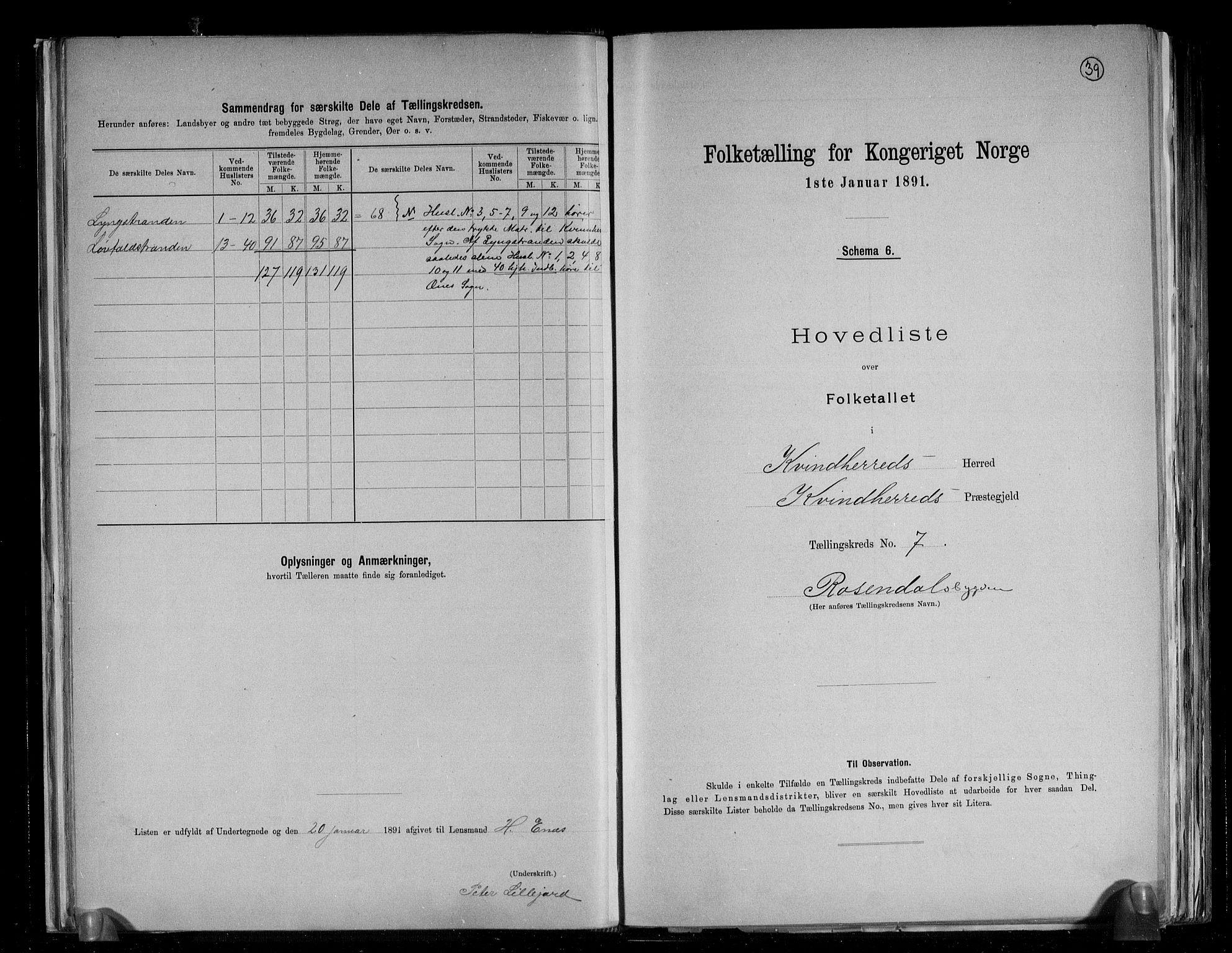 RA, Folketelling 1891 for 1224 Kvinnherad herred, 1891, s. 19