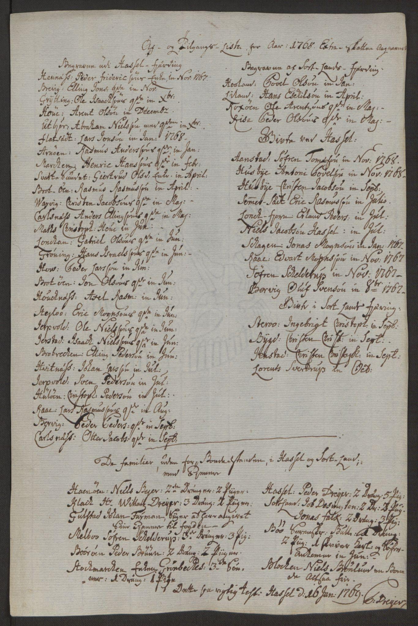 RA, Rentekammeret inntil 1814, Realistisk ordnet avdeling, Ol/L0022a: [Gg 10]: Ekstraskatten, 23.09.1762. Nordlands amt, 1763-1769, s. 63