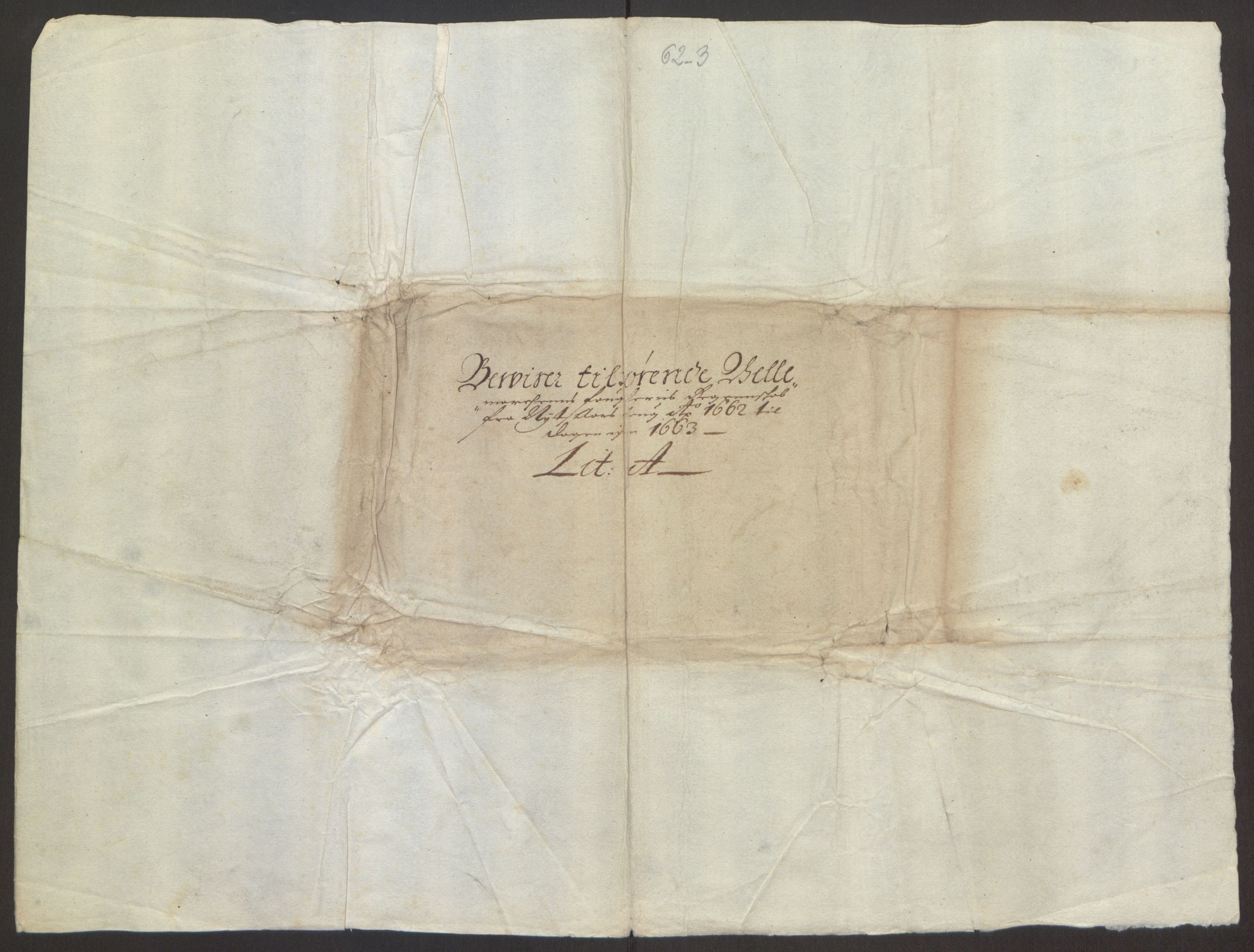 RA, Rentekammeret inntil 1814, Reviderte regnskaper, Fogderegnskap, R35/L2054: Fogderegnskap Øvre og Nedre Telemark, 1662-1663, s. 241