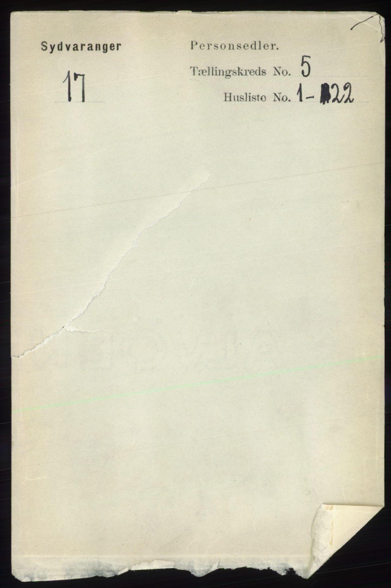 RA, Folketelling 1891 for 2030 Sør-Varanger herred, 1891, s. 1567