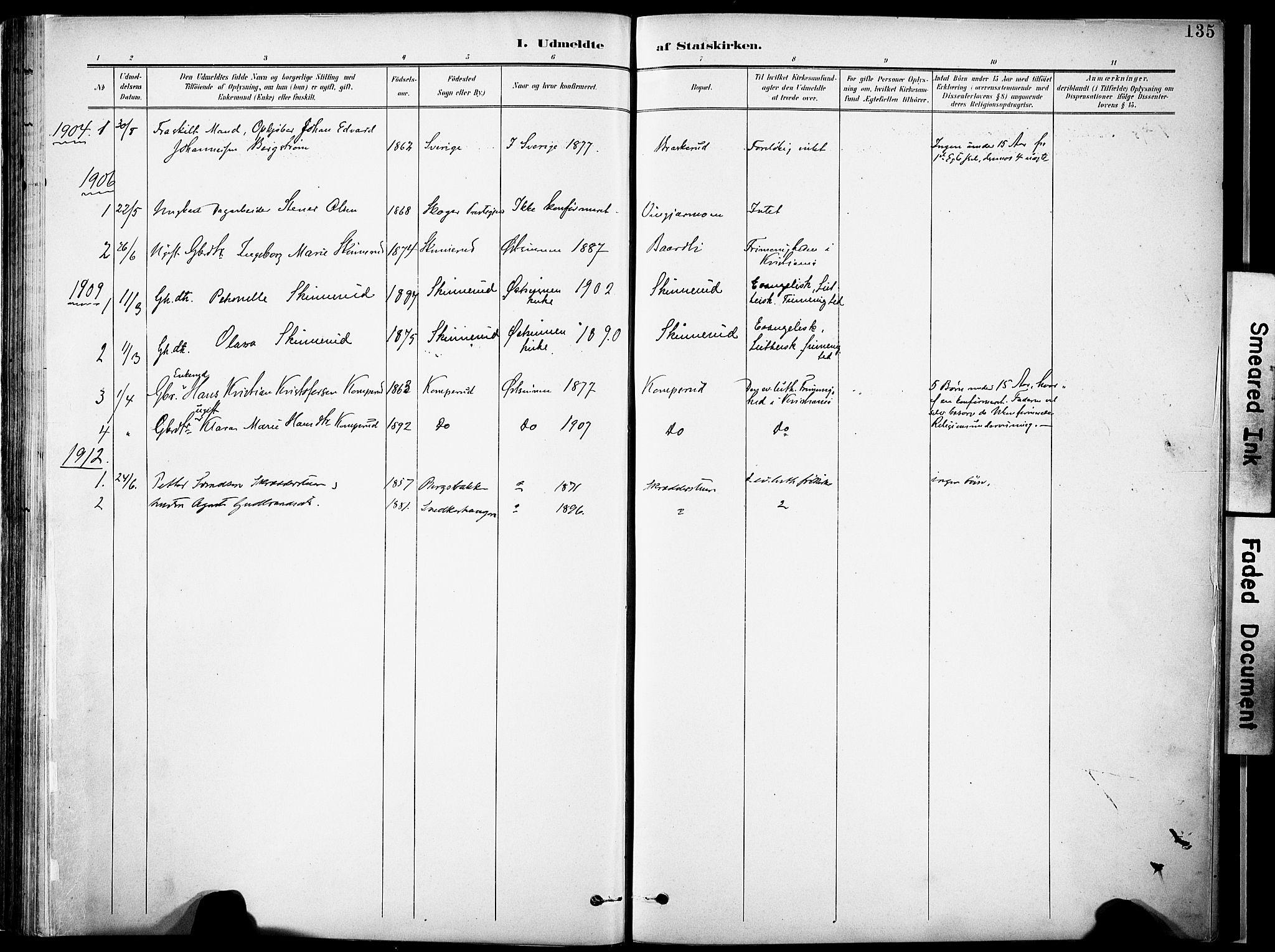 SAH, Nordre Land prestekontor, Ministerialbok nr. 6, 1897-1914, s. 135