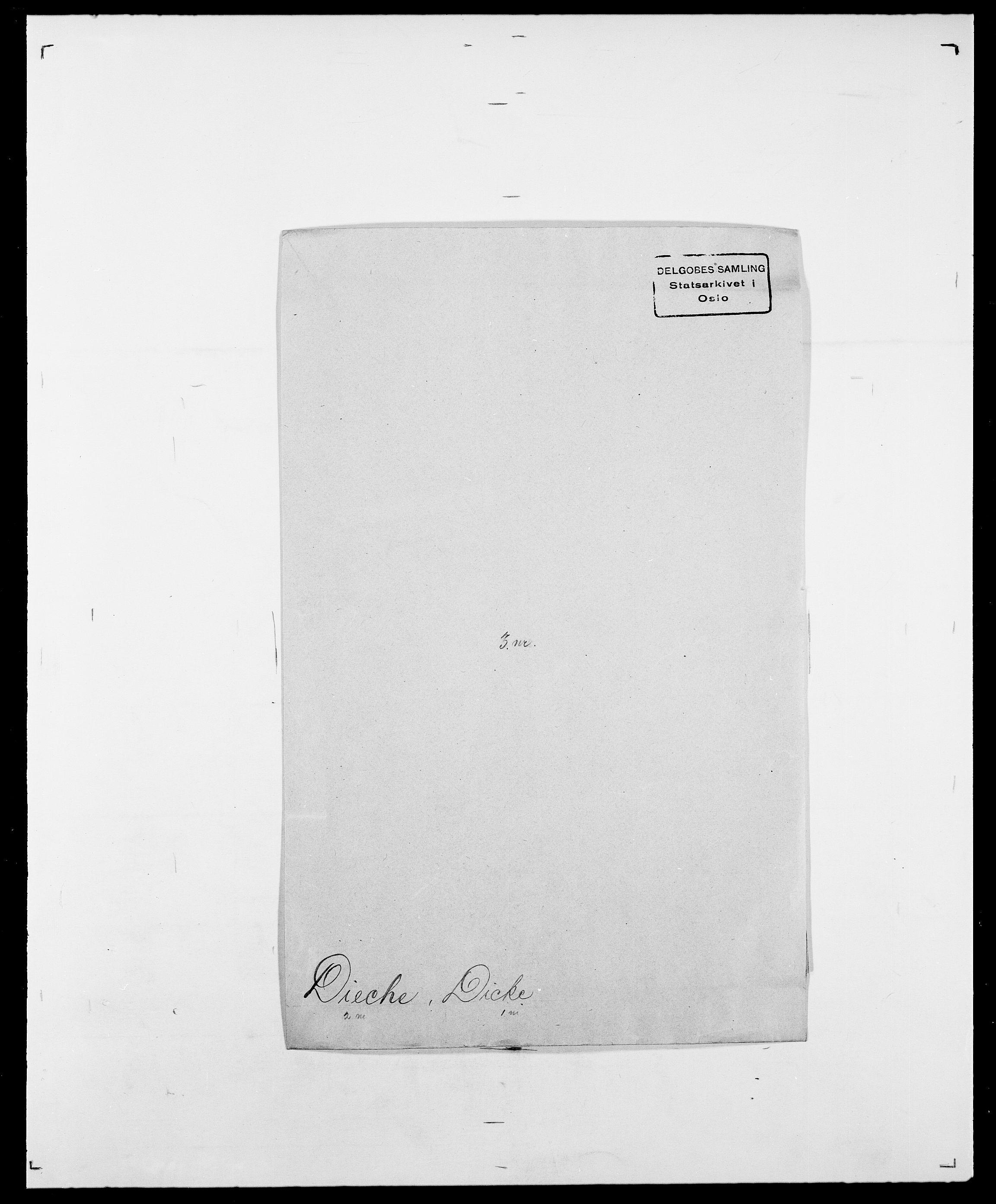 SAO, Delgobe, Charles Antoine - samling, D/Da/L0009: Dahl - v. Düren, s. 534