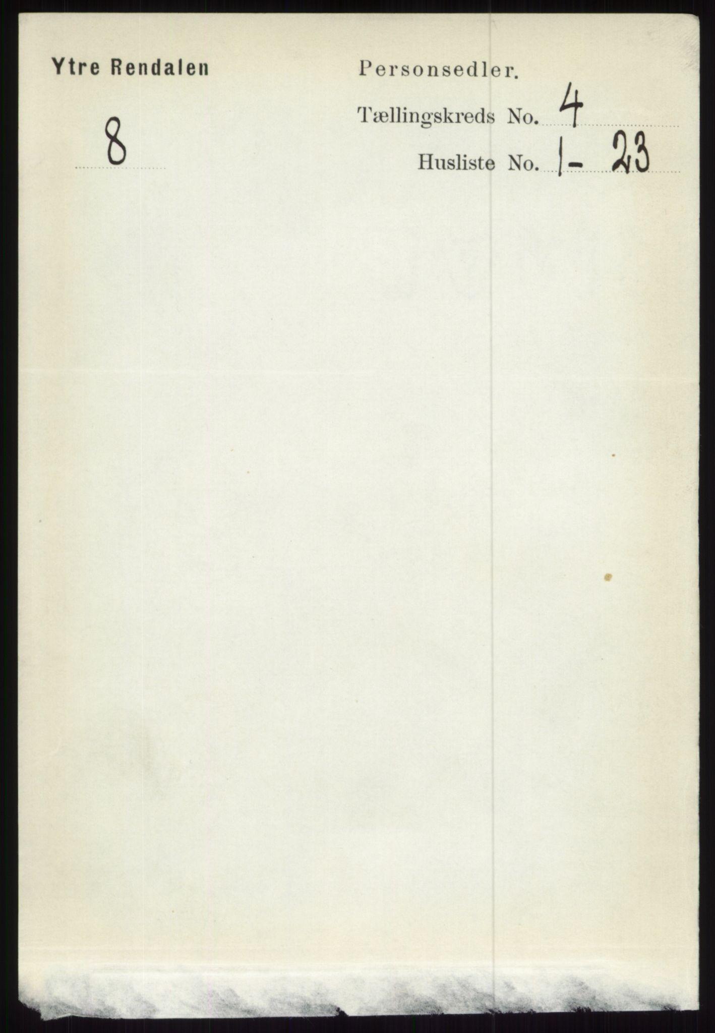 RA, Folketelling 1891 for 0432 Ytre Rendal herred, 1891, s. 774