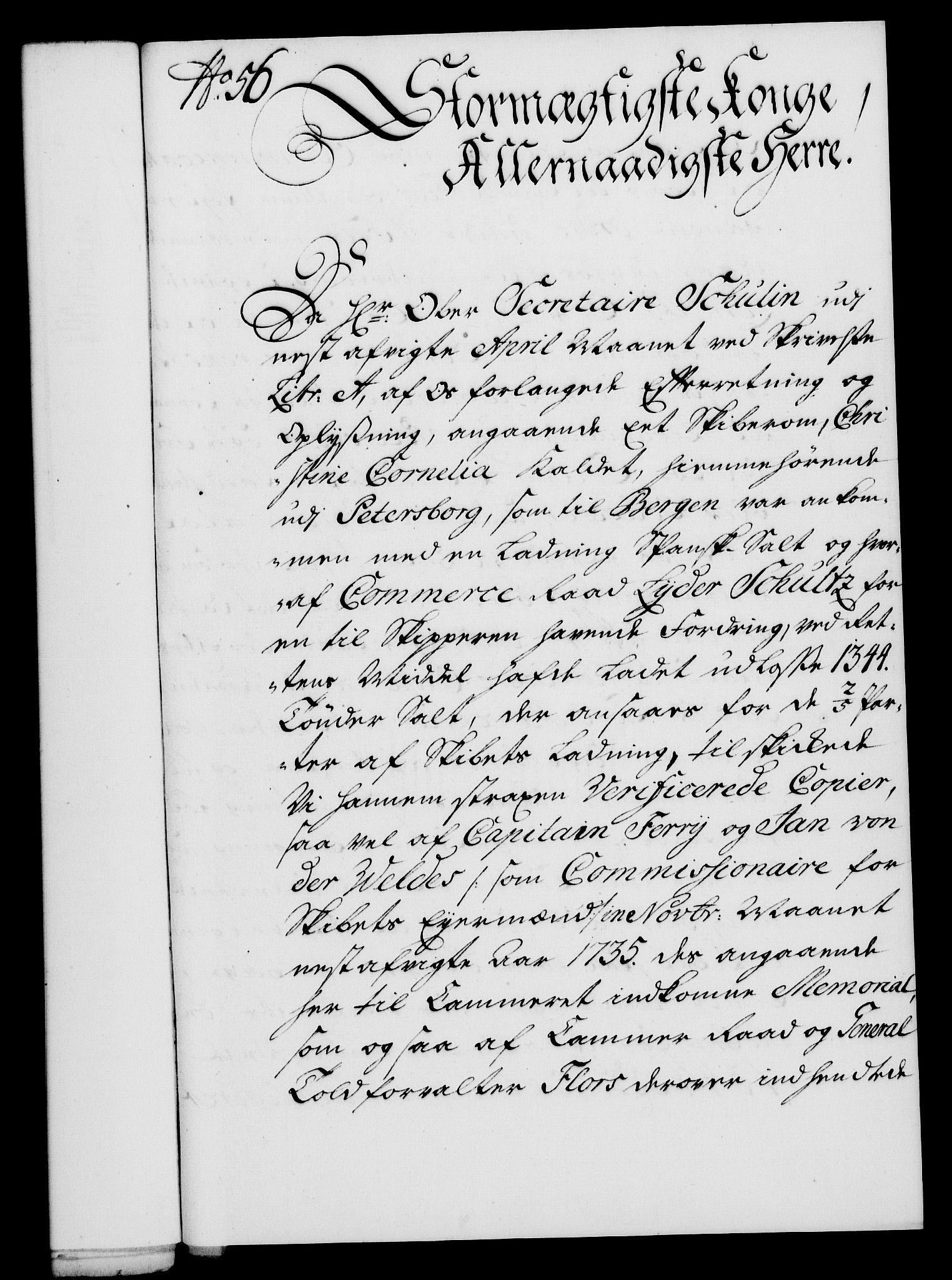 RA, Rentekammeret, Kammerkanselliet, G/Gf/Gfa/L0019: Norsk relasjons- og resolusjonsprotokoll (merket RK 52.19), 1736, s. 385