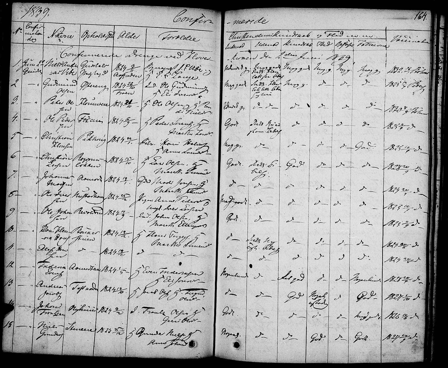 SAH, Gausdal prestekontor, Ministerialbok nr. 6, 1830-1839, s. 164