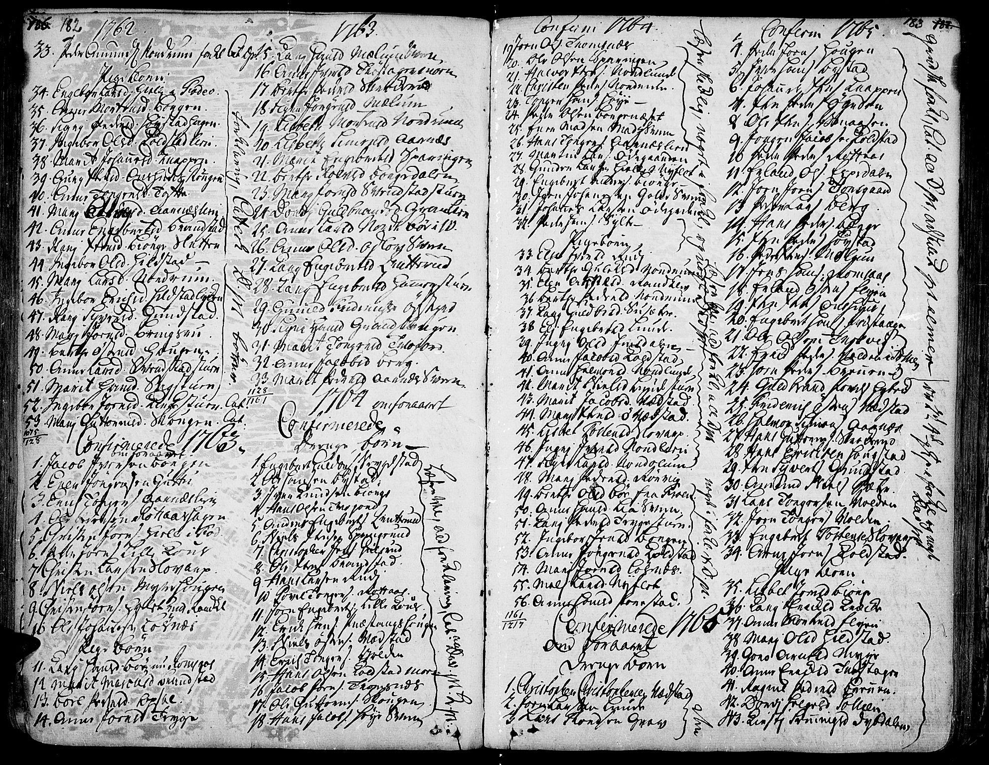 SAH, Ringebu prestekontor, Ministerialbok nr. 2, 1734-1780, s. 182-183