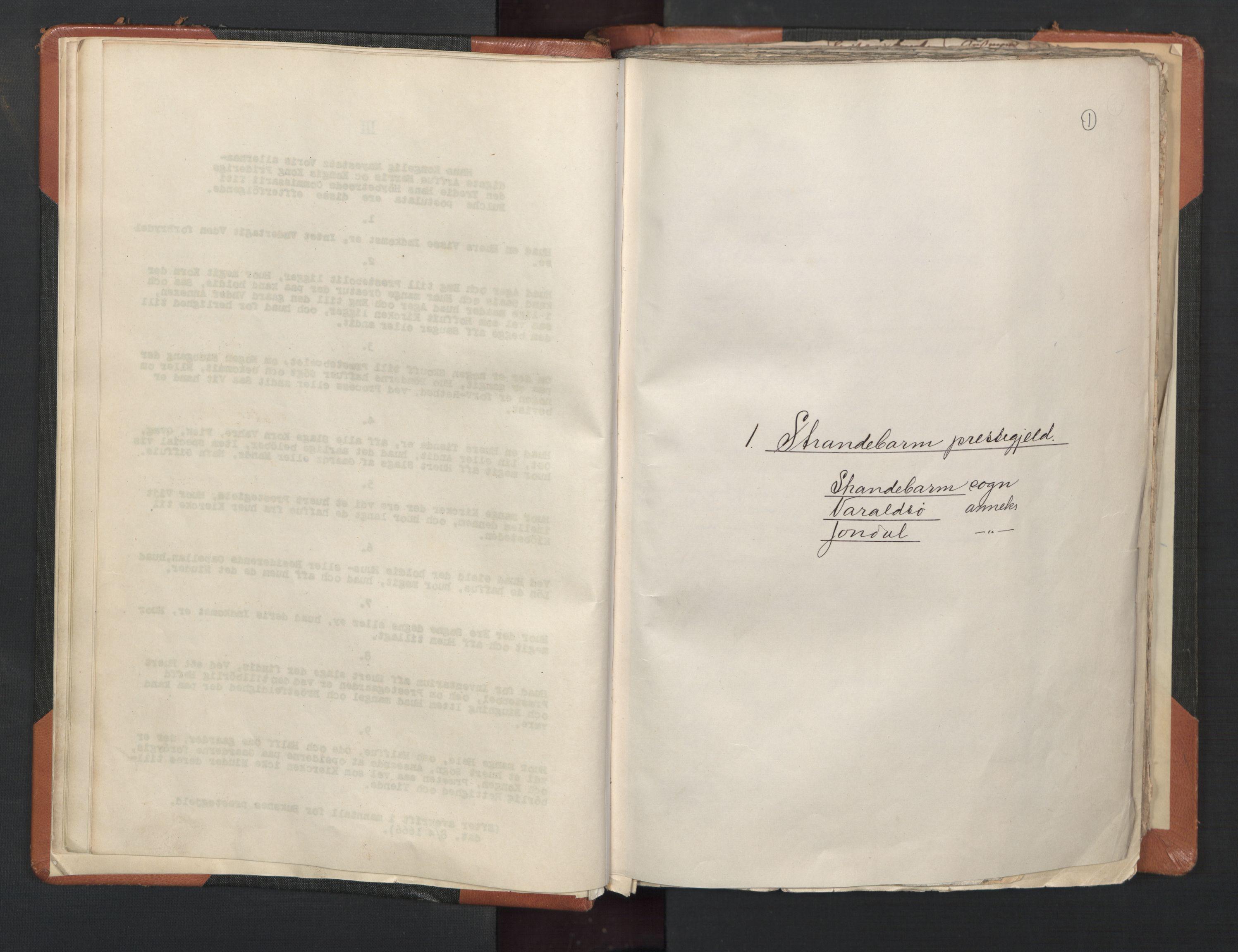 RA, Sogneprestenes manntall 1664-1666, nr. 20: Sunnhordland prosti, 1664-1666, s. 1