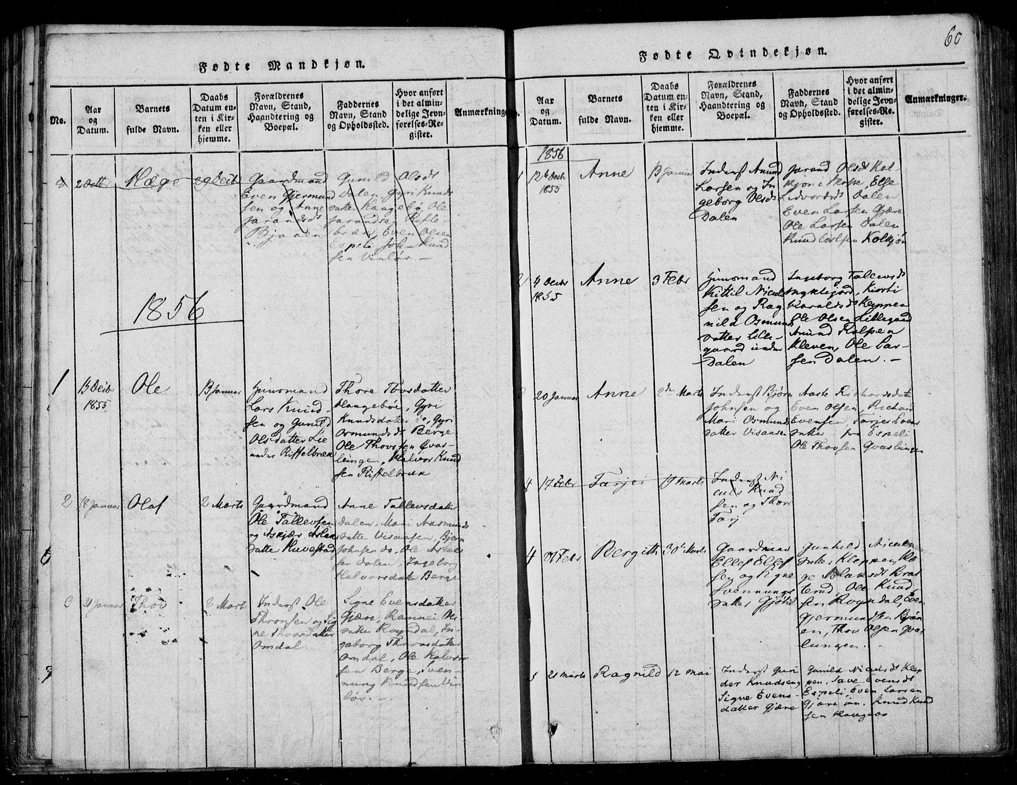 SAKO, Lårdal kirkebøker, F/Fb/L0001: Ministerialbok nr. II 1, 1815-1860, s. 60